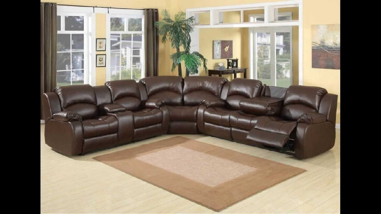3 Pc Samara Chocolate Bonded Leather Sectional Sofa With Recliners Pertaining To Sectional Sofas With Recliners Leather (Photo 10 of 10)