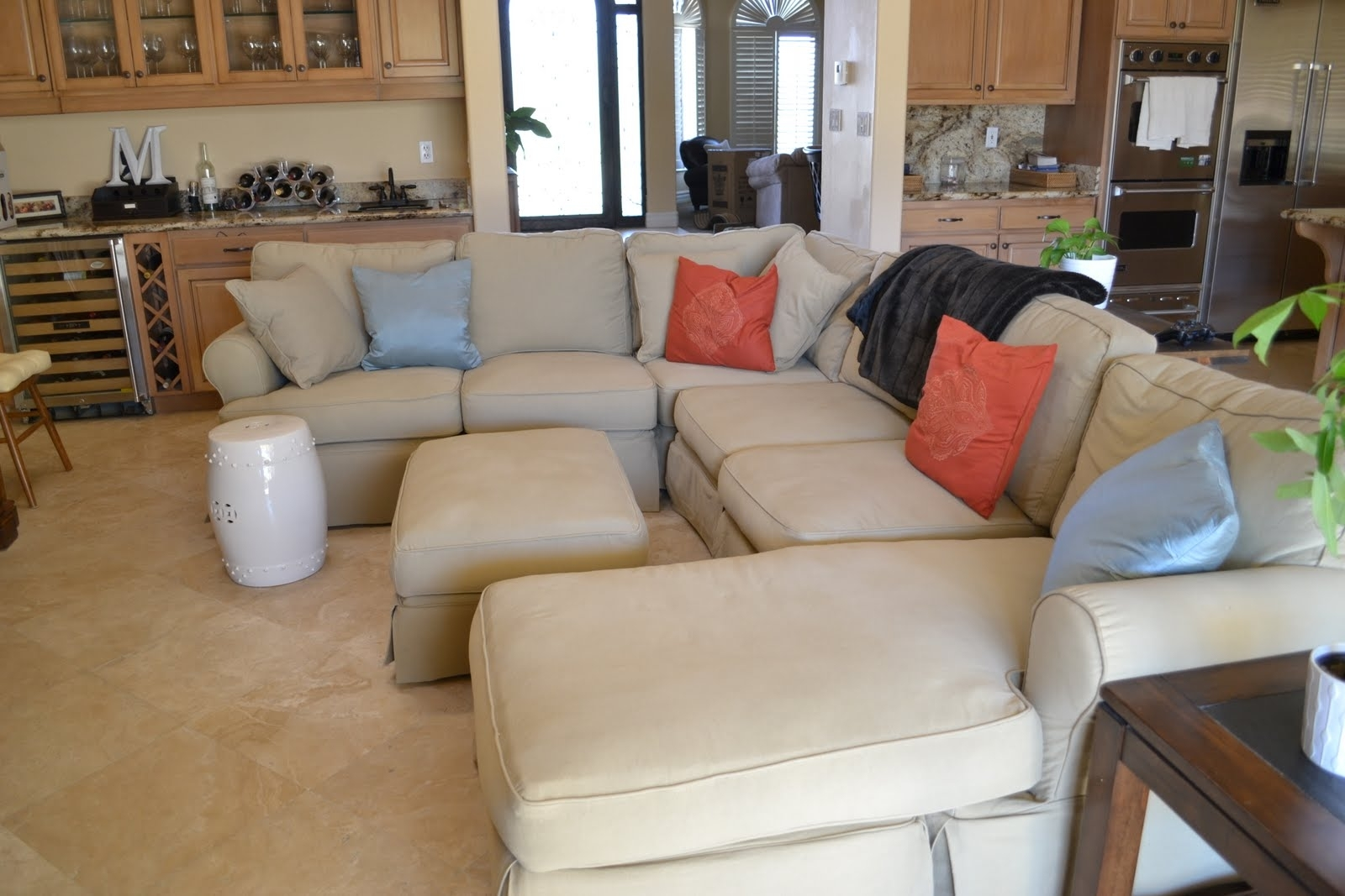 3 Piece Sectional Slipcovers — Cabinets, Beds, Sofas And with Quad Cities Sectional Sofas (Image 1 of 10)