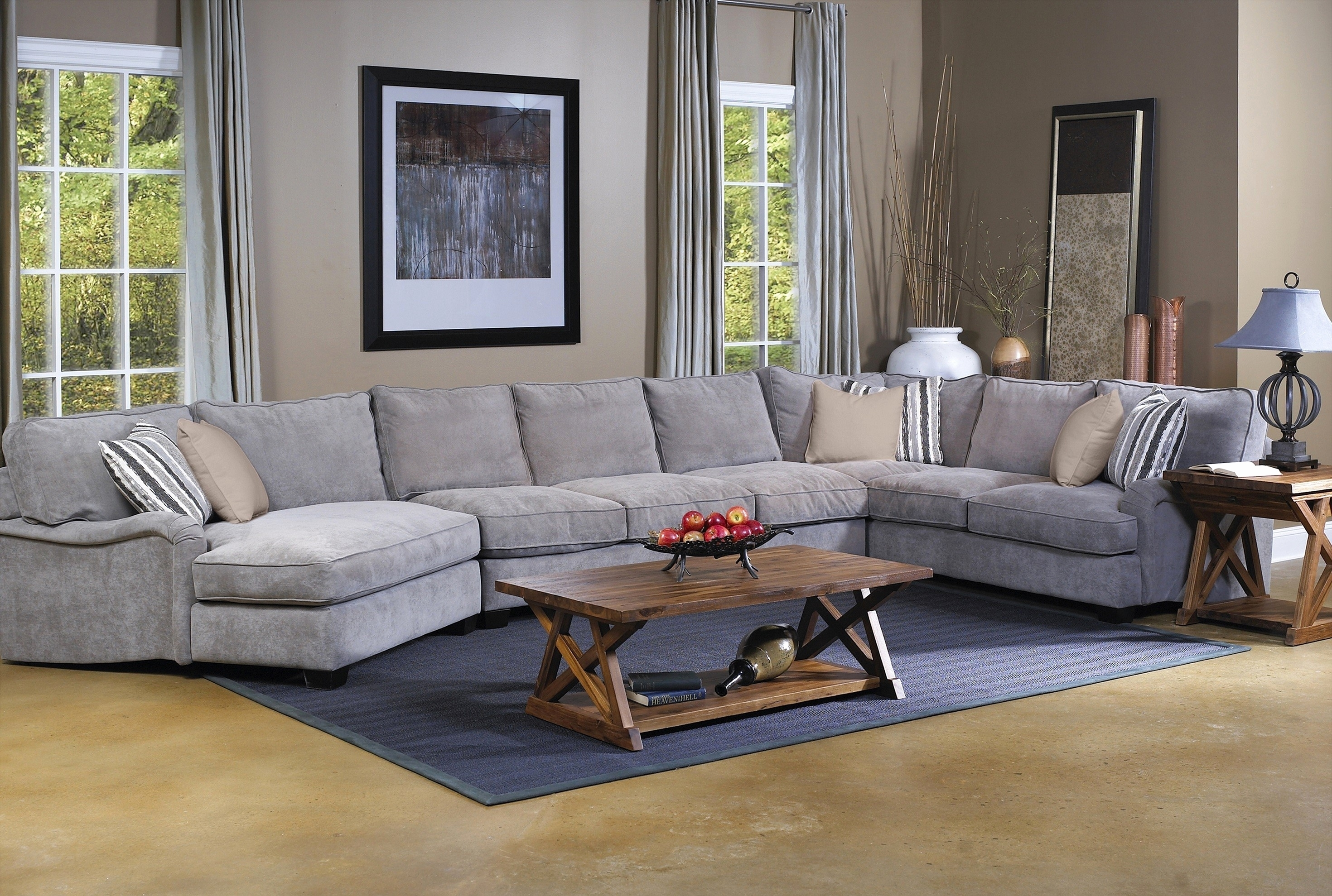 30 Elegant Pictures Of Grey Sectional Sofa With Chaise 2018 with regard to Sectional Sofas With Oversized Ottoman (Image 1 of 15)