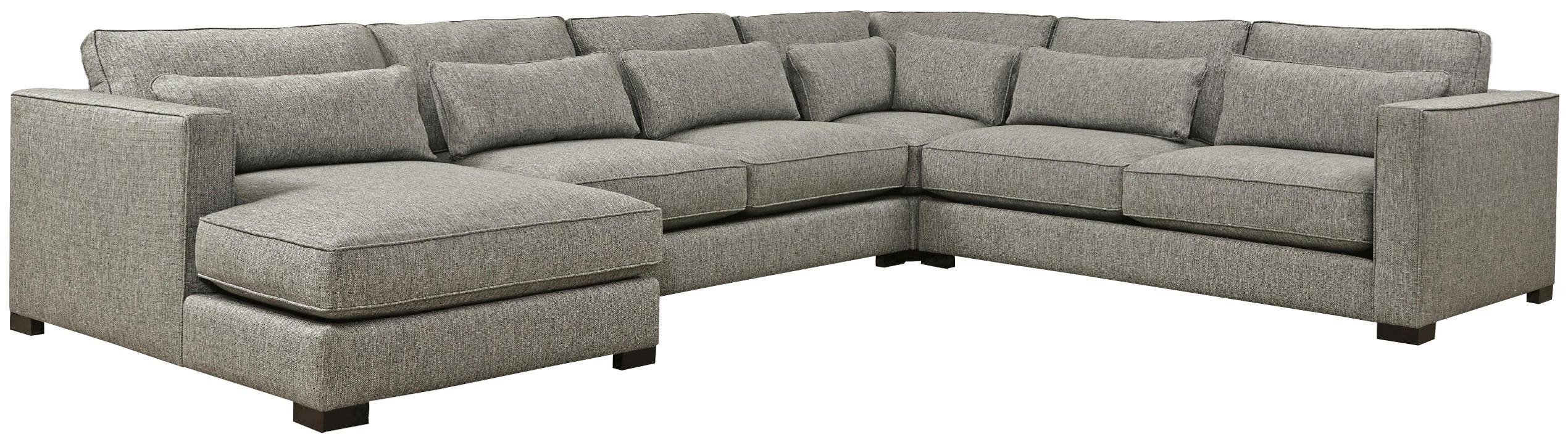 4 Piece Sectional | Soft Fabrics, Detroit And Pillows Regarding Sectional Sofas Art Van (View 7 of 15)