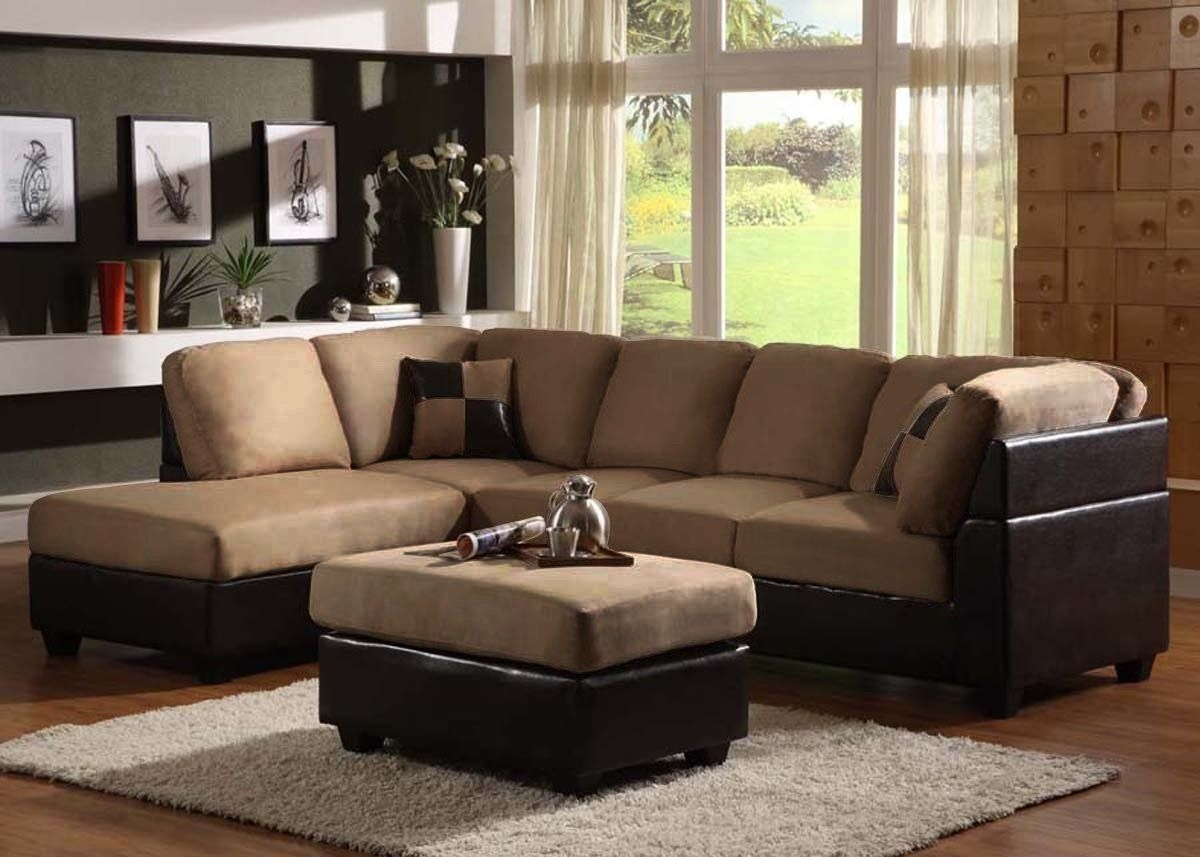 40 Cheap Sectional Sofas Under $500 For 2018 | Chaise Lounges, Couch Intended For Sectional Sofas With Chaise Lounge And Ottoman (View 2 of 15)