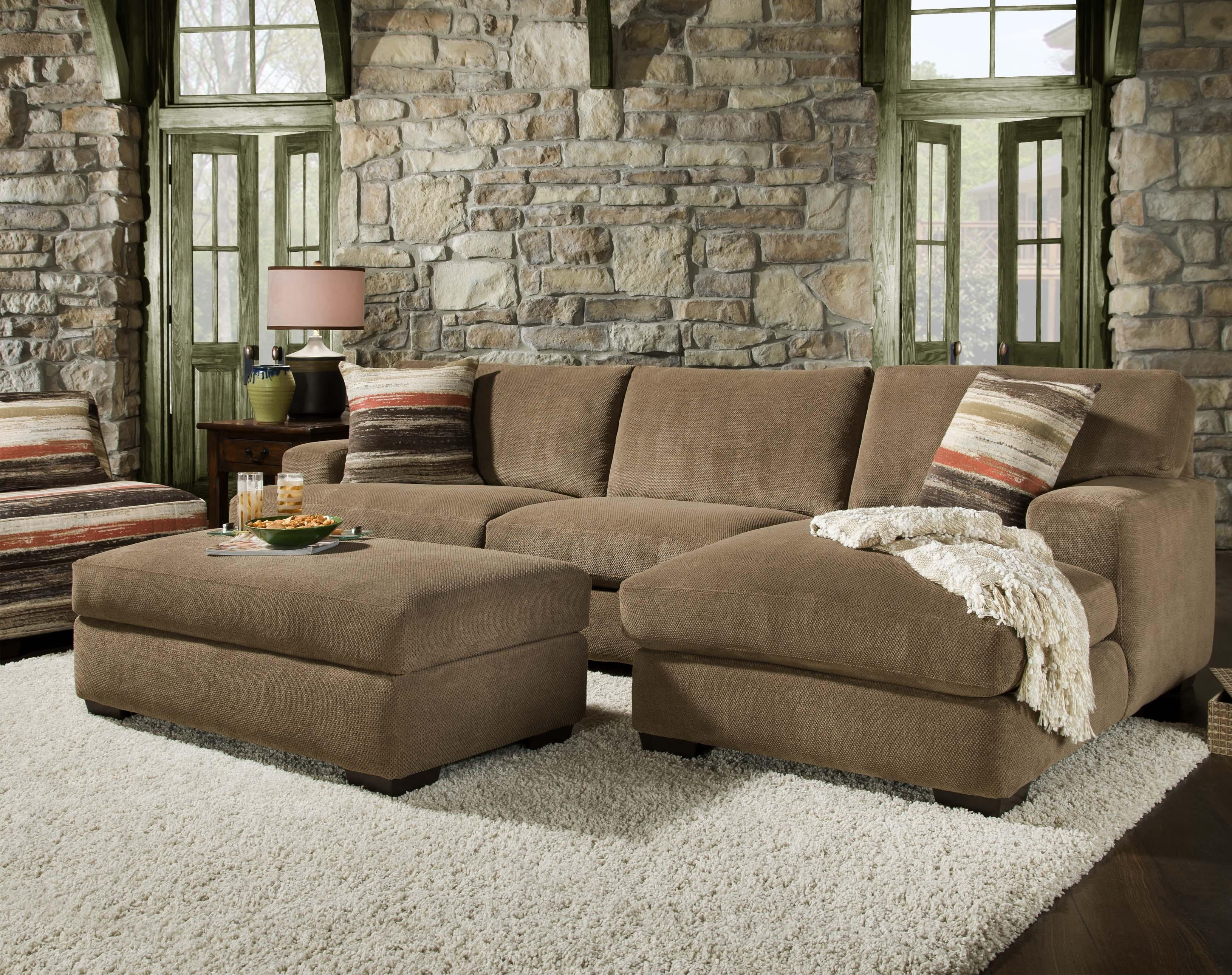 48B0 Small Sectional With Chaisecorinthian | Wolf Furniture Pertaining To Sectional Sofas For Small Doorways (View 1 of 10)