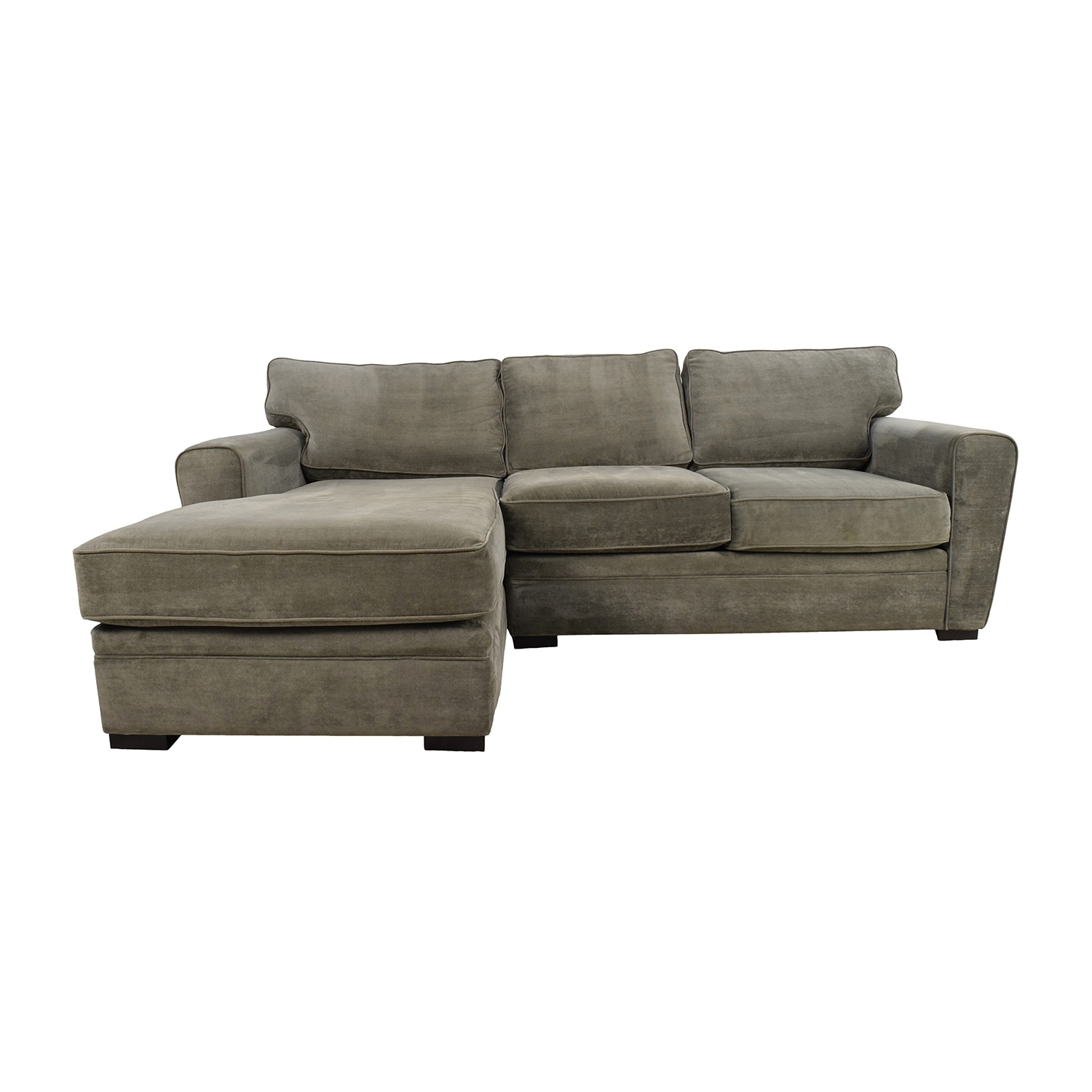 58% Off - Raymour And Flanigan Raymour & Flanigan Grey Sectional / Sofas within Sectional Sofas At Raymour And Flanigan (Image 1 of 15)