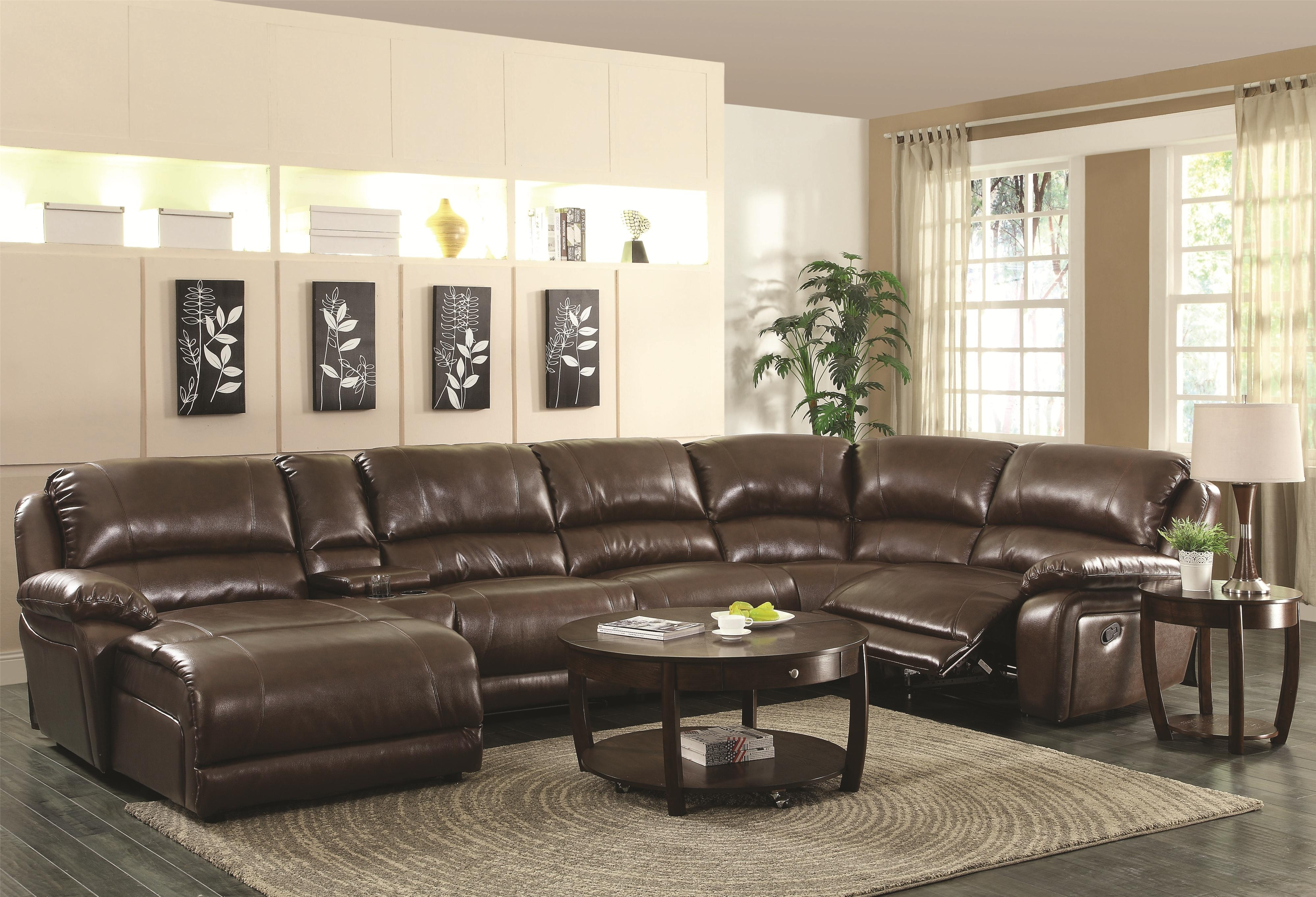 6 Piece Leather Sectional With Recliner And Chaise Lounge pertaining to 6 Piece Leather Sectional Sofas (Image 4 of 10)