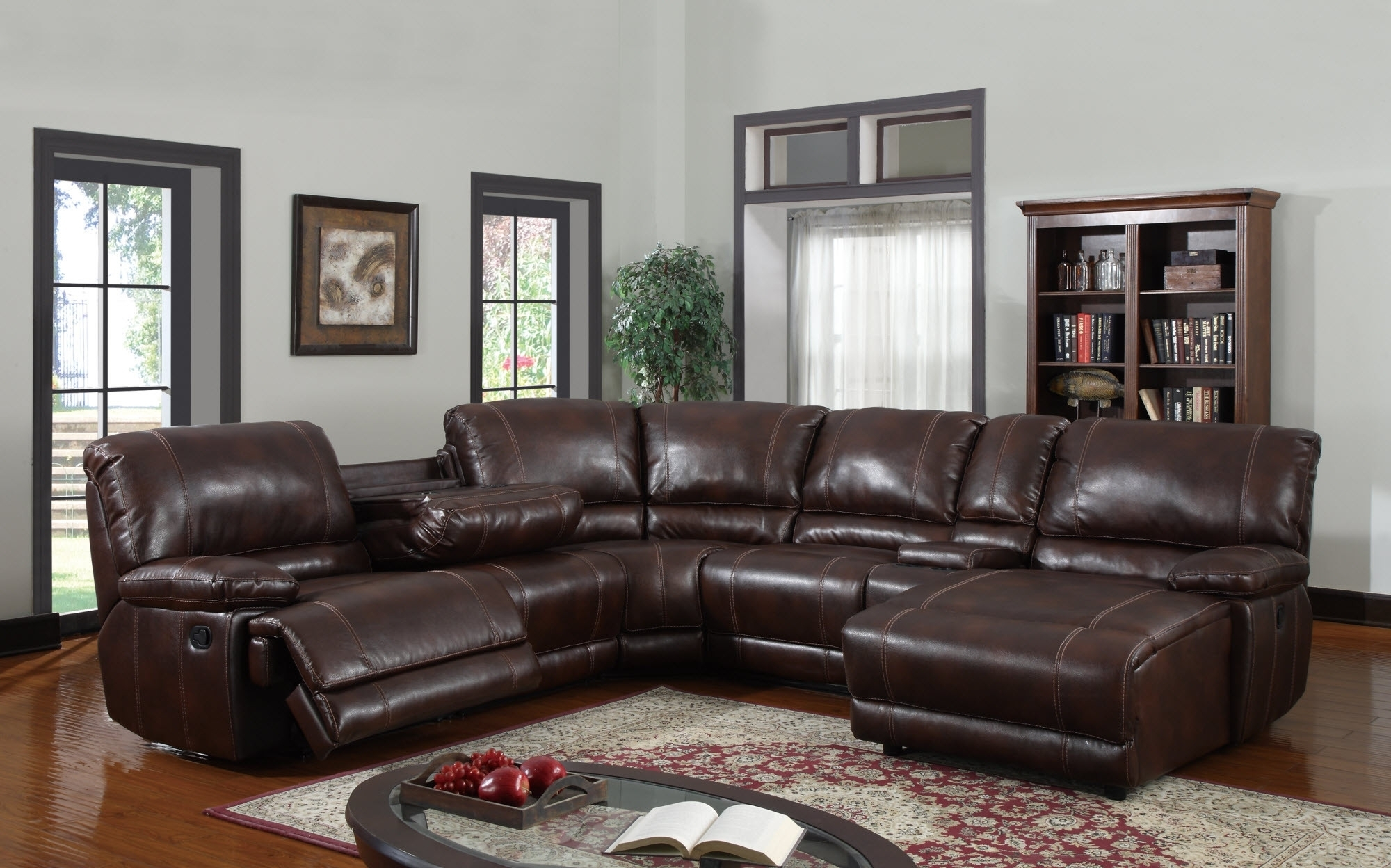 6 Piece Sectional Sofa Leather • Sectional Sofa within 6 Piece Leather Sectional Sofas (Image 5 of 10)
