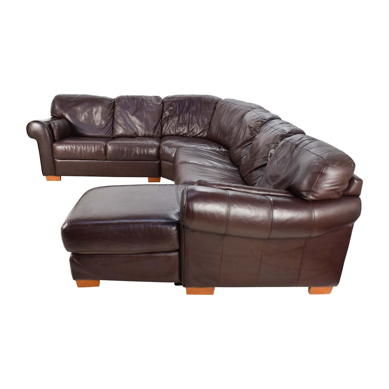 63% Off – Raymour & Flanigan Raymour & Flanigan 4 Piece Leather With Regard To Raymour And Flanigan Sectional Sofas (Gallery 8 of 10)