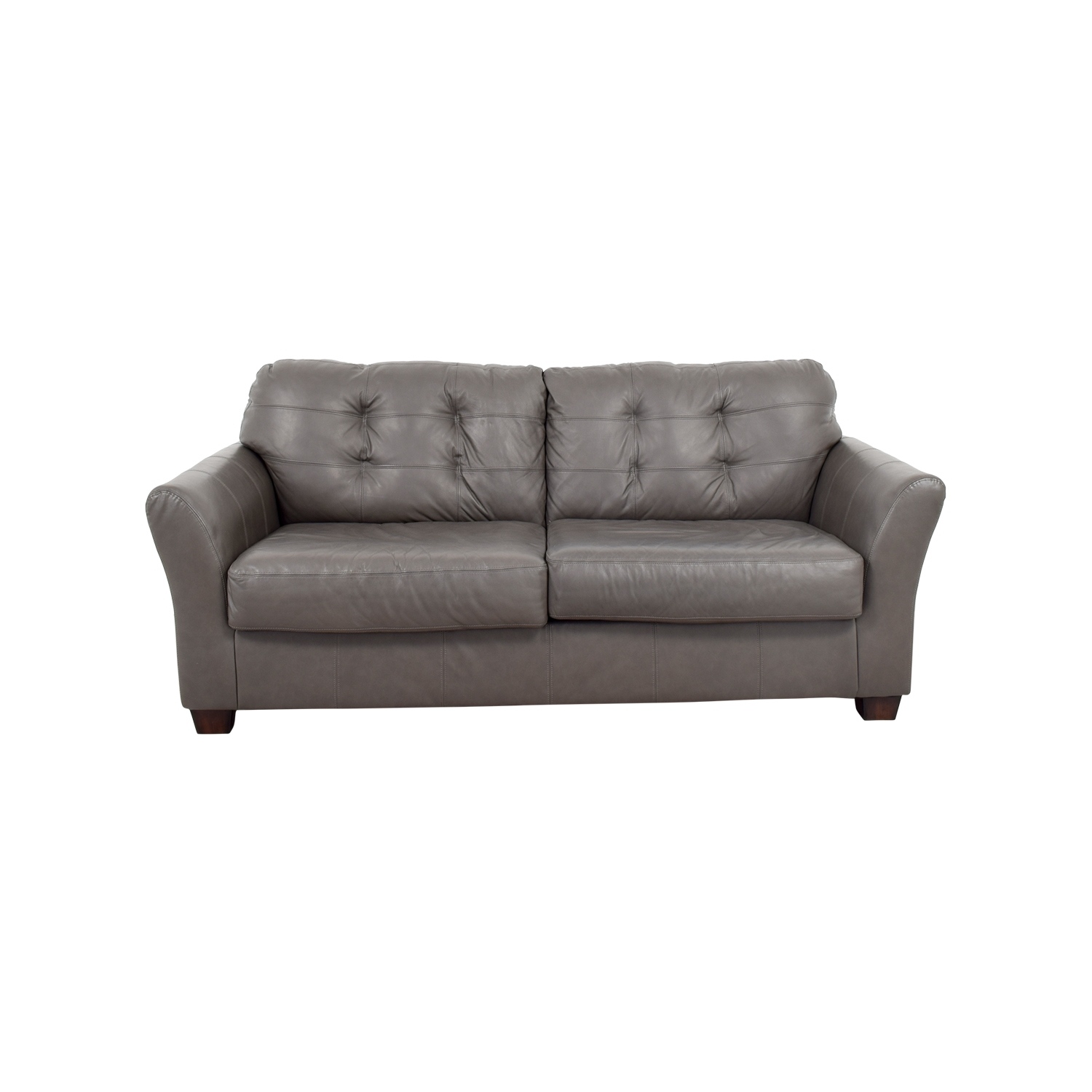 66% Off - Ashley Furniture Ashley Furniture Gray Tufted Sofa / Sofas with regard to Ashley Tufted Sofas (Image 1 of 10)
