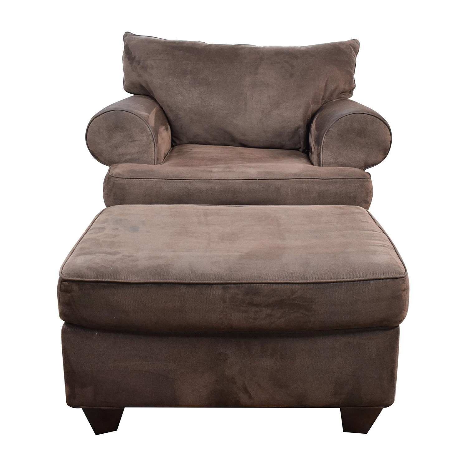 67% Off - Dark Brown Sofa Chair With Ottoman / Chairs for Chairs With Ottoman (Image 2 of 15)