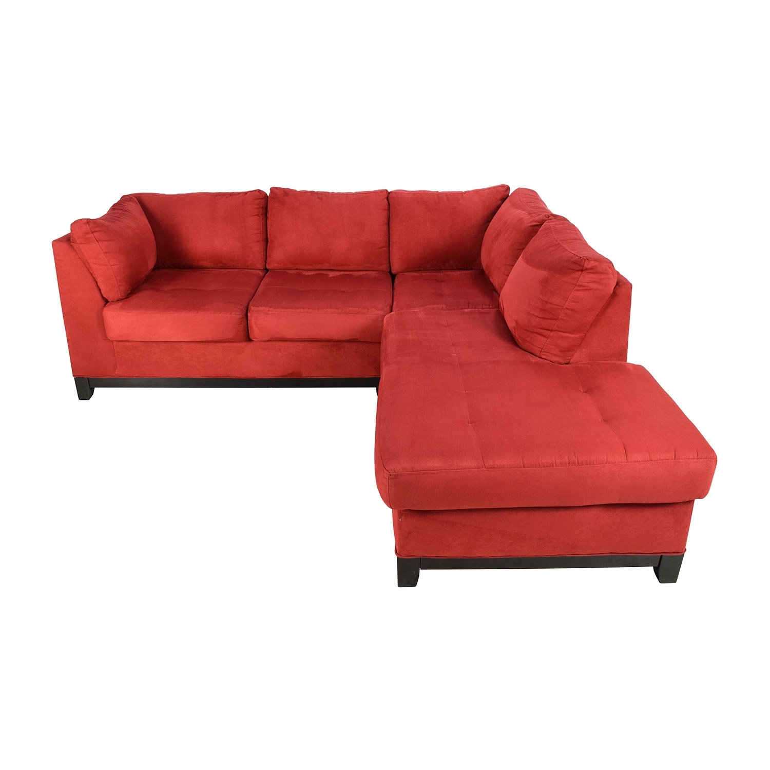 67% Off – Raymour And Flanigan Raymour & Flanigan Zella Red In Sectional Sofas At Raymour And Flanigan (View 2 of 15)