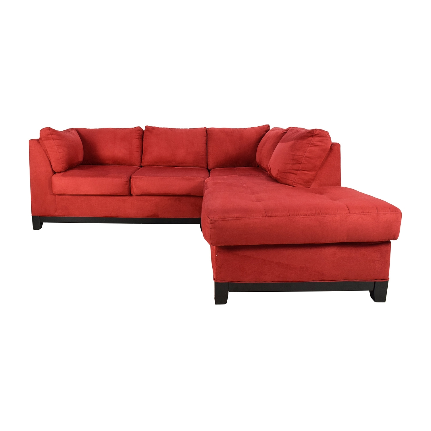 67% Off - Raymour And Flanigan Raymour & Flanigan Zella Red throughout Sectional Sofas at Raymour and Flanigan (Image 3 of 15)