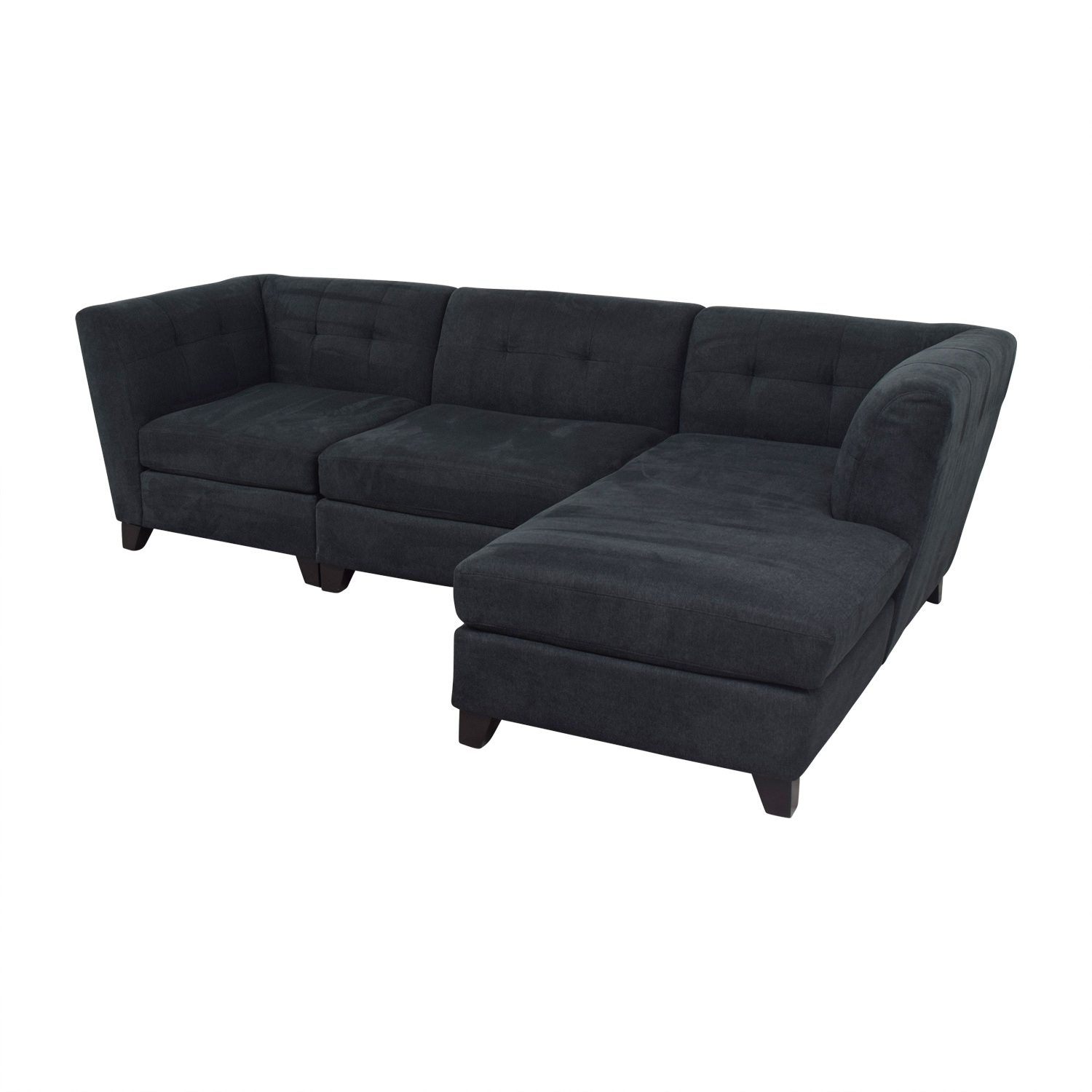 69% Off   Raymour & Flanigan Raymour & Flanigan Tate Microfiber With Regard To Sectional Sofas At Raymour And Flanigan (Photo 10 of 15)