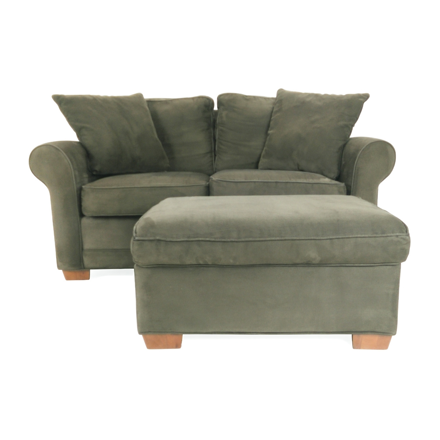 70% Off   Klaussner Salina Klaussner Salina Brown Two Seater With Loveseats With Ottoman (Photo 1 of 15)