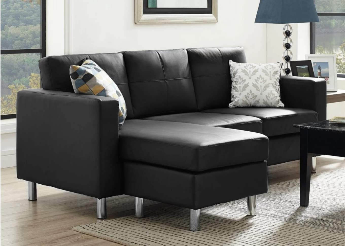 75 Modern Sectional Sofas For Small Spaces (2018) With Black Sectional Sofas (Photo 13 of 15)
