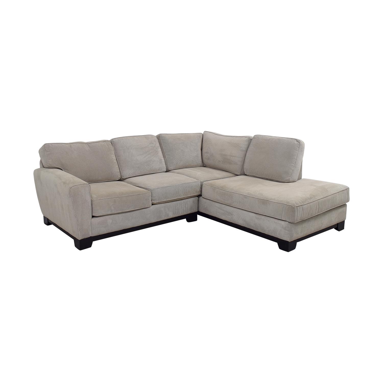 83% Off - Jordan's Furniture Jordan's Furniture Beige L-Shaped intended for Jordans Sectional Sofas (Image 1 of 10)