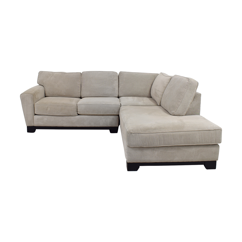 83% Off - Jordan's Furniture Jordan's Furniture Beige L-Shaped throughout Jordans Sectional Sofas (Image 2 of 10)