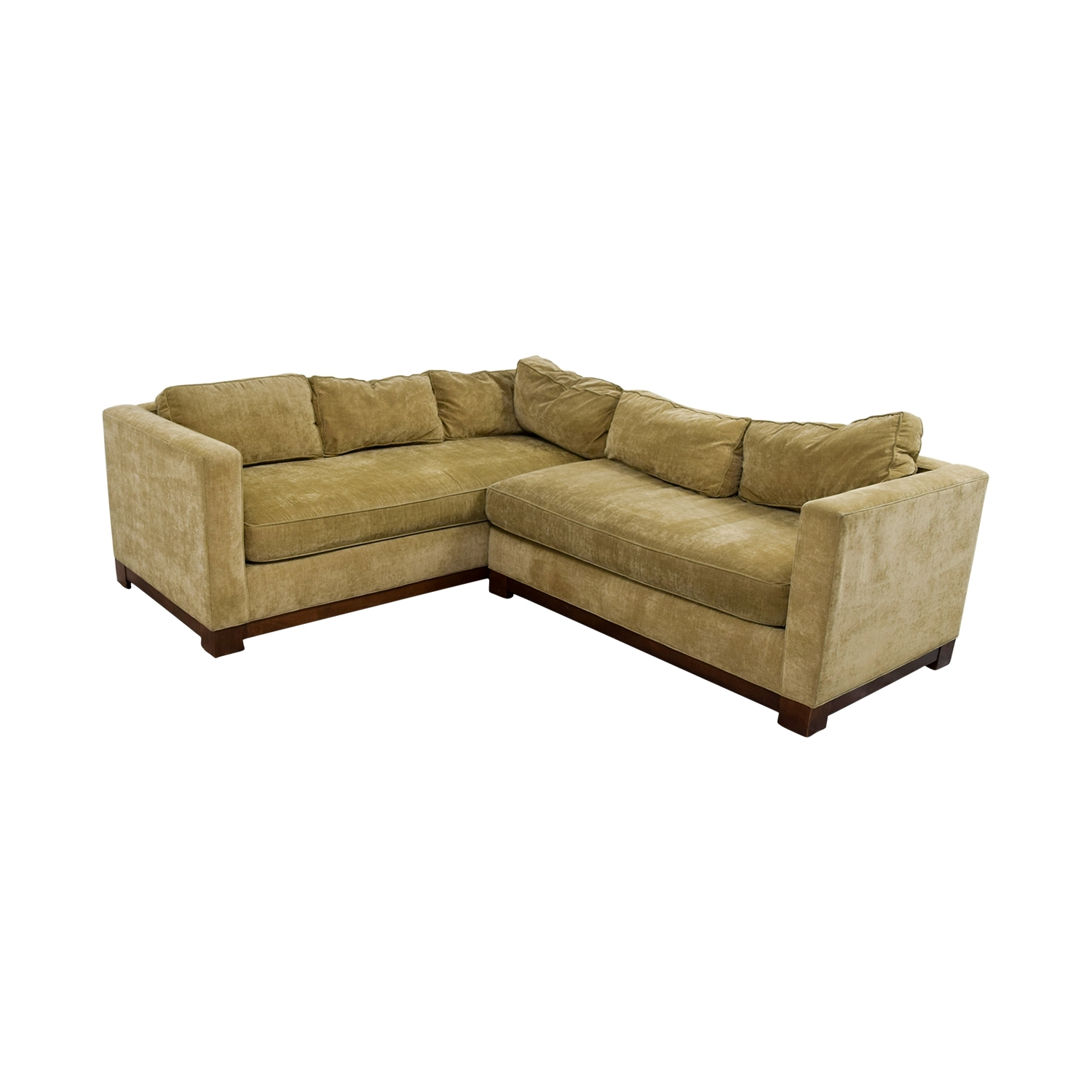 84% Off - Mitchell Gold + Bob Williams Mitchell Gold + Bob Williams inside Gold Sectional Sofas (Image 2 of 10)