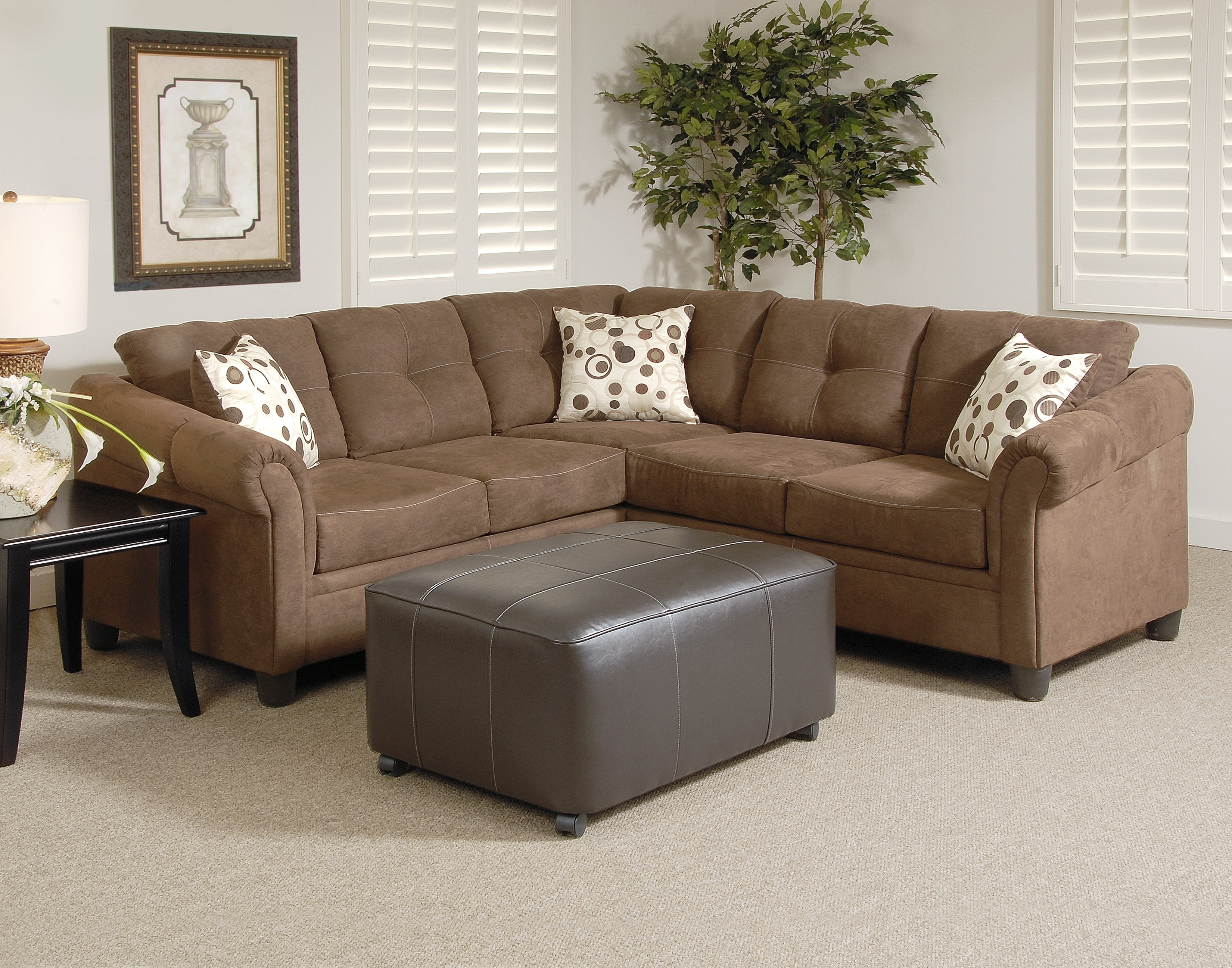 900 Chocolate Sectional | Sectionals & Ottomans | Atlantic Bedding For Sectional Sofas Under (View 3 of 10)