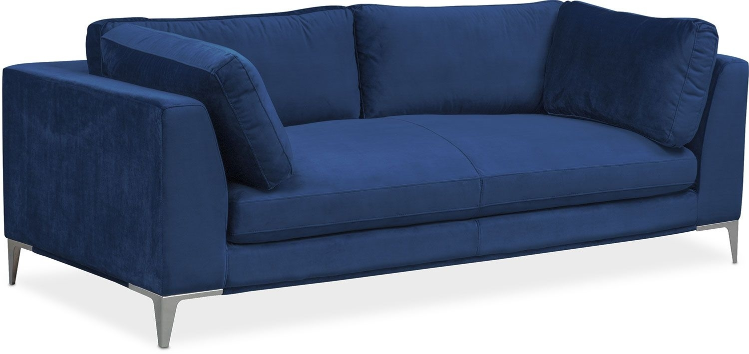 Aaron Sofa - Indigo | Living Room Furniture, Living Rooms And Room pertaining to Sectional Sofas at Aarons (Image 3 of 15)