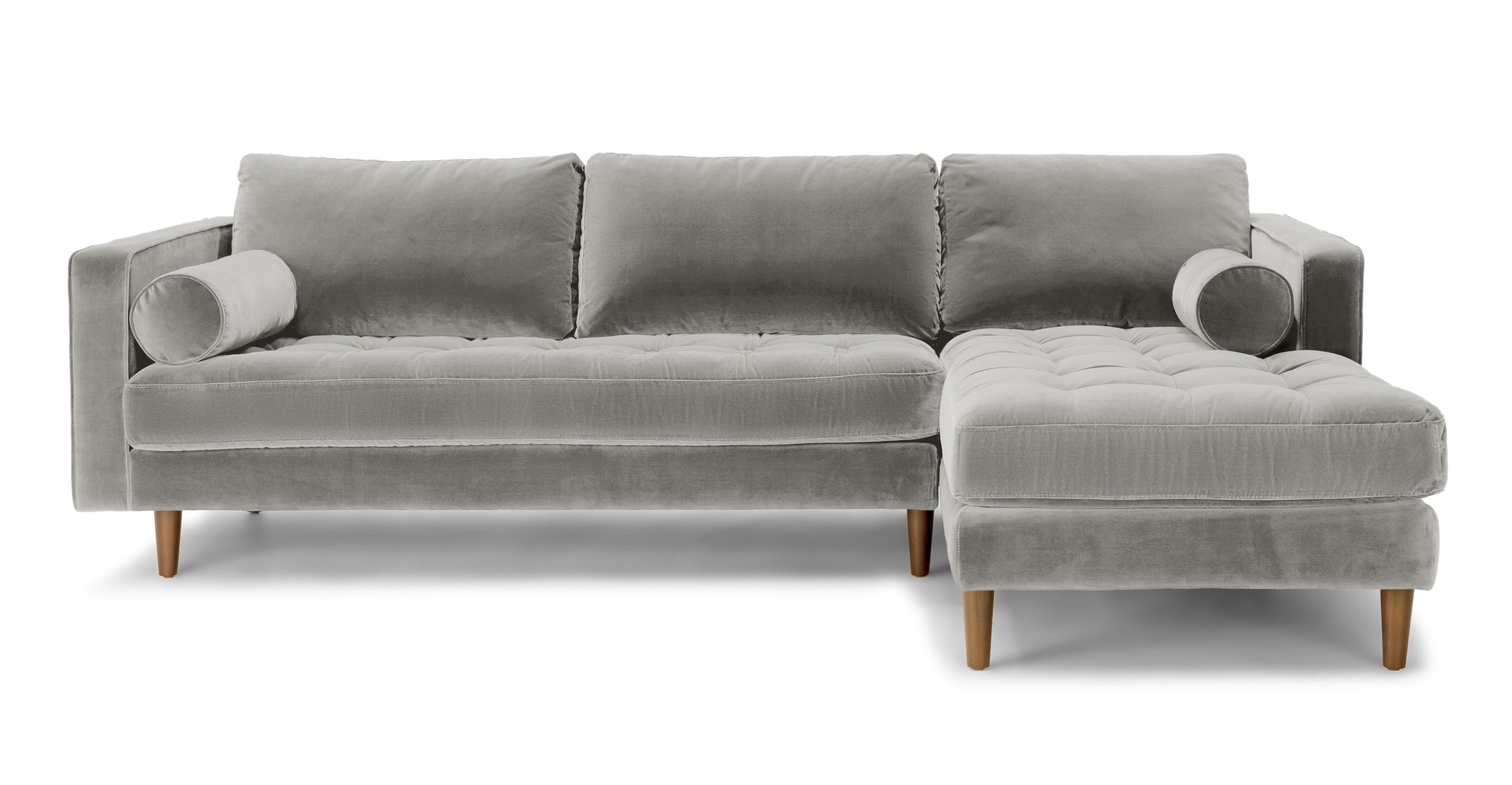 Abbieht Chaise Sectional Sofa With Large Cushionsengland Ivy throughout Regina Sectional Sofas (Image 1 of 10)