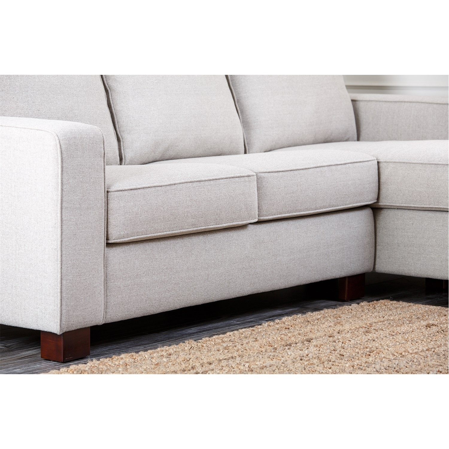 Abbyson Living Rl-1321-Gry Regina Grey Fabric Sectional Sofa intended for Regina Sectional Sofas (Image 2 of 10)