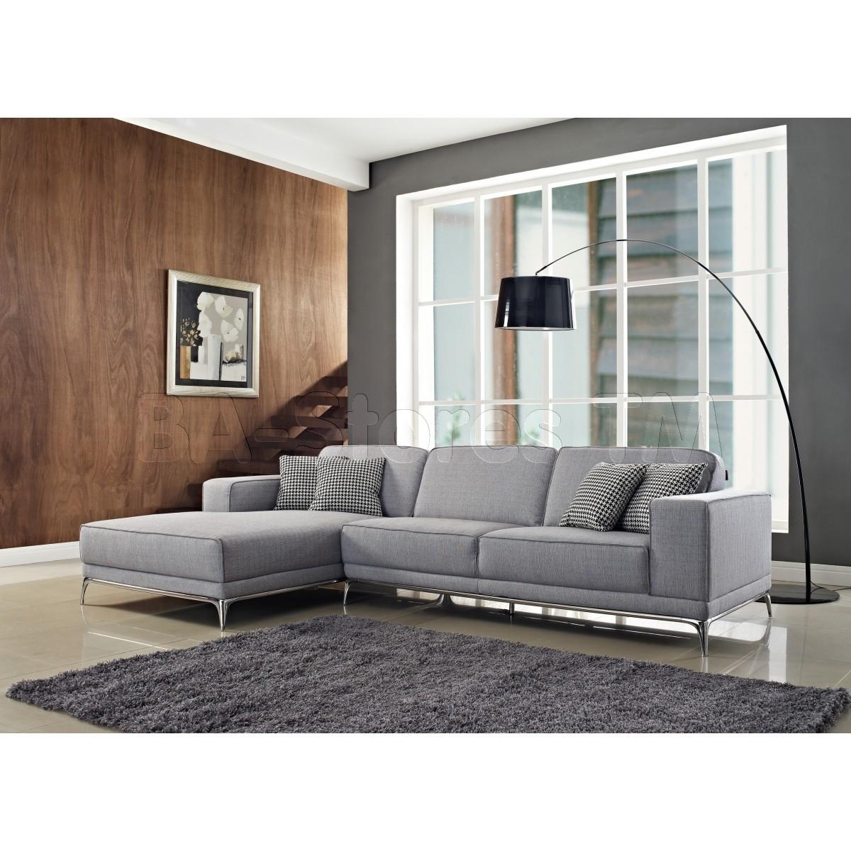 Agata Sectional Sofa | Light Grey - $2,475.00 : Furniture Store for Light Grey Sectional Sofas (Image 1 of 10)