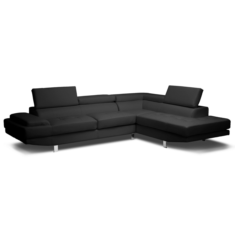 Amazon Com Modern Furniture Vig T93C White Leather Throughout Regarding Sectional Sofas At Amazon (View 3 of 15)