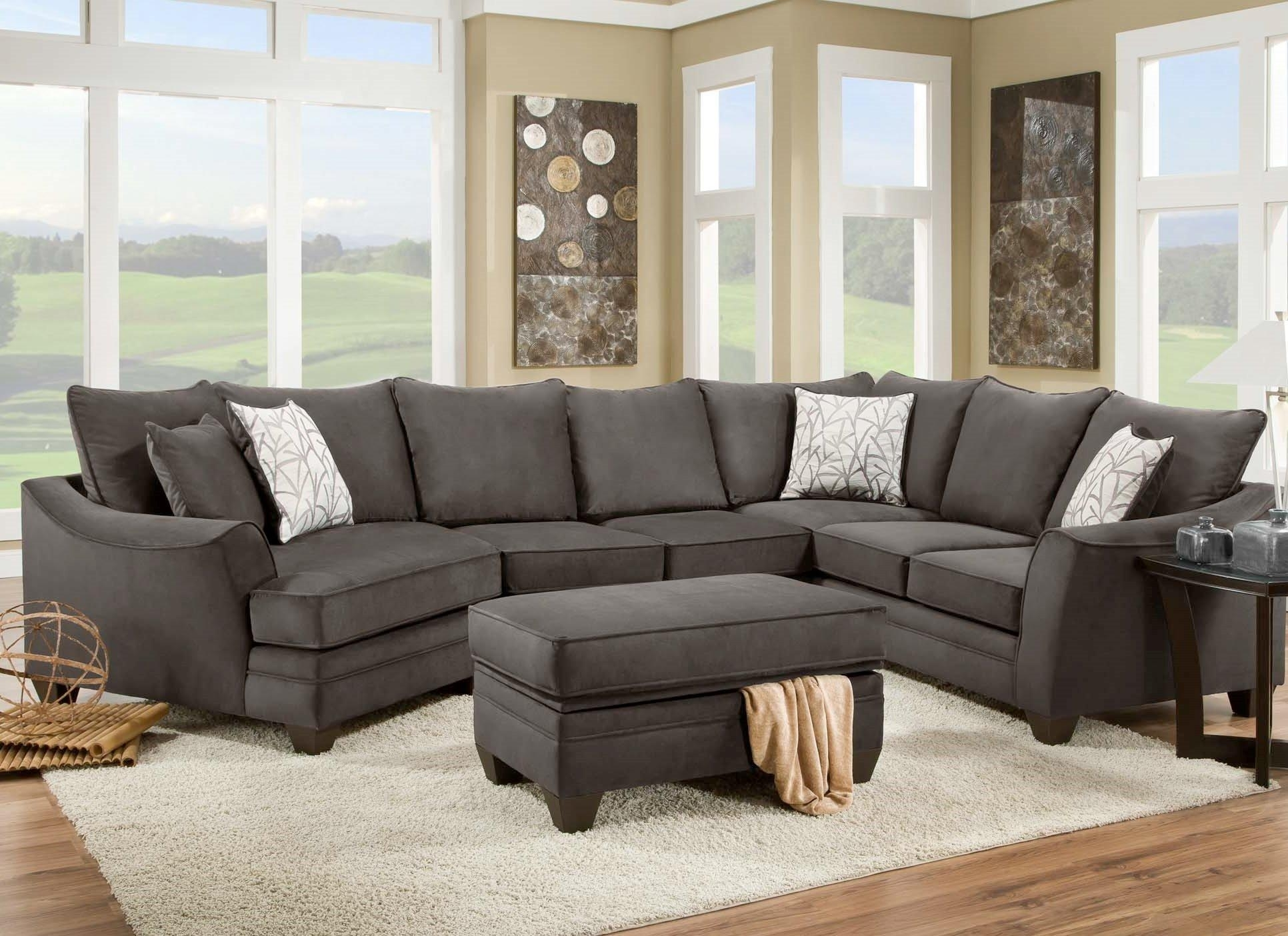 American Furniture 3810 Sectional Sofa That Seats 5 With Left Side Throughout Sectional Sofas In North Carolina (View 1 of 10)