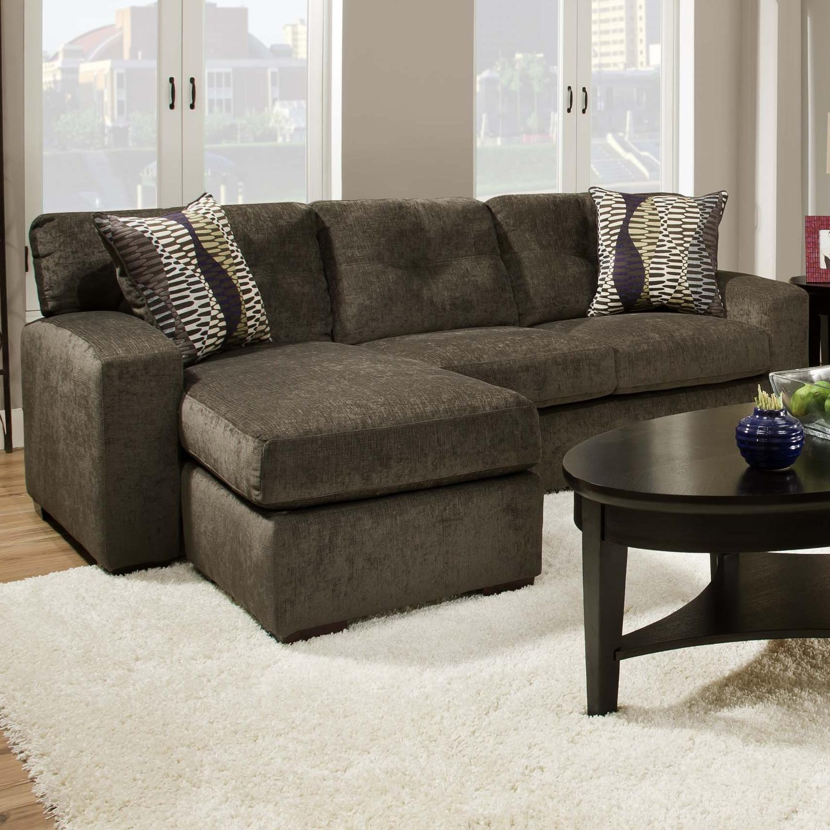American Furniture 5100 Group Small Sectional Sofa With Chaise Inside Small Sectional Sofas With Chaise And Ottoman (View 1 of 15)