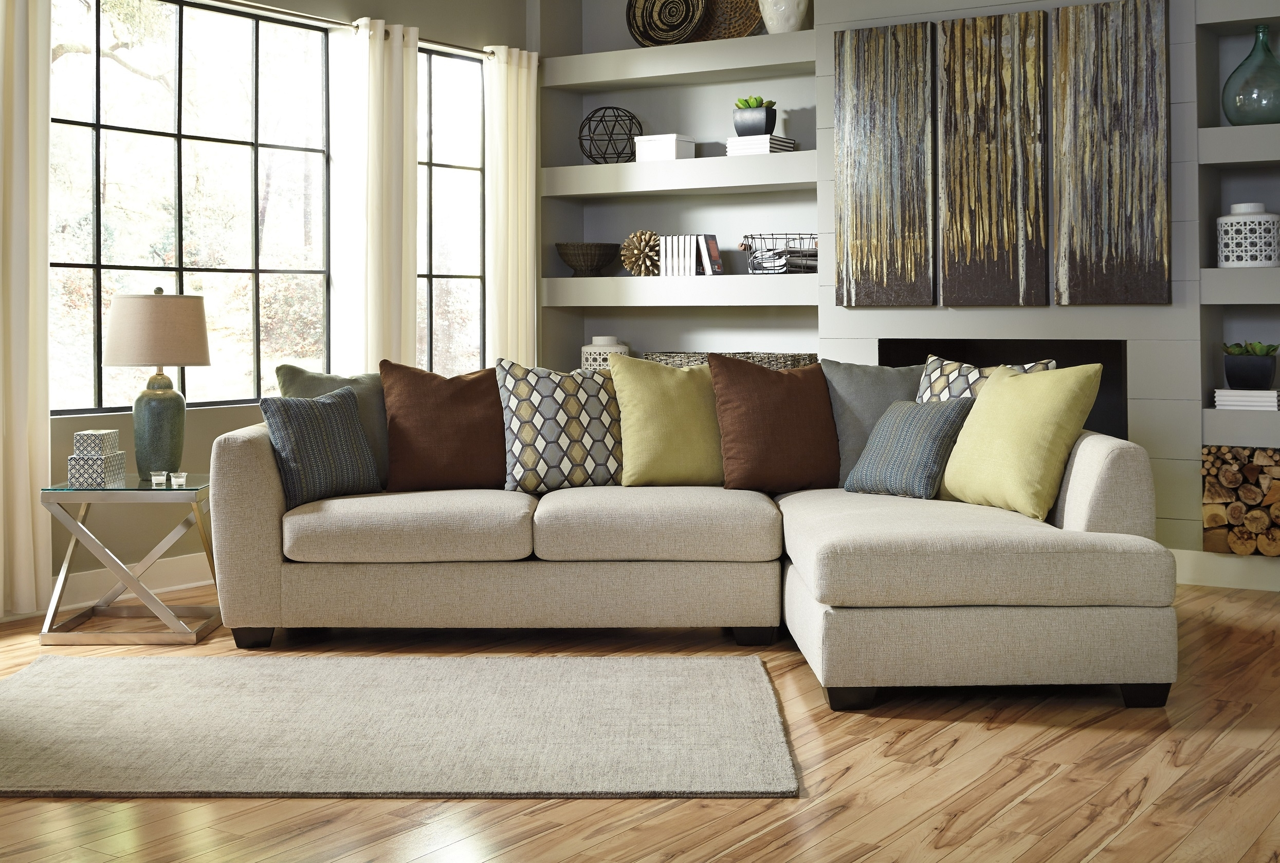 Amusing Gray Sectional Sofa Ashley Furniture 51 In Lime Green inside Sectional Sofas at Ashley (Image 5 of 15)