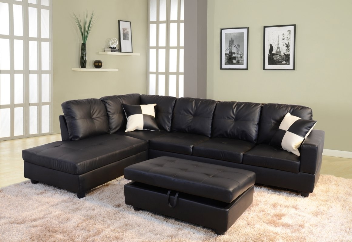Andover Mills Russ Sectional With Ottoman & Reviews | Wayfair Intended For Sectionals With Ottoman (View 4 of 15)