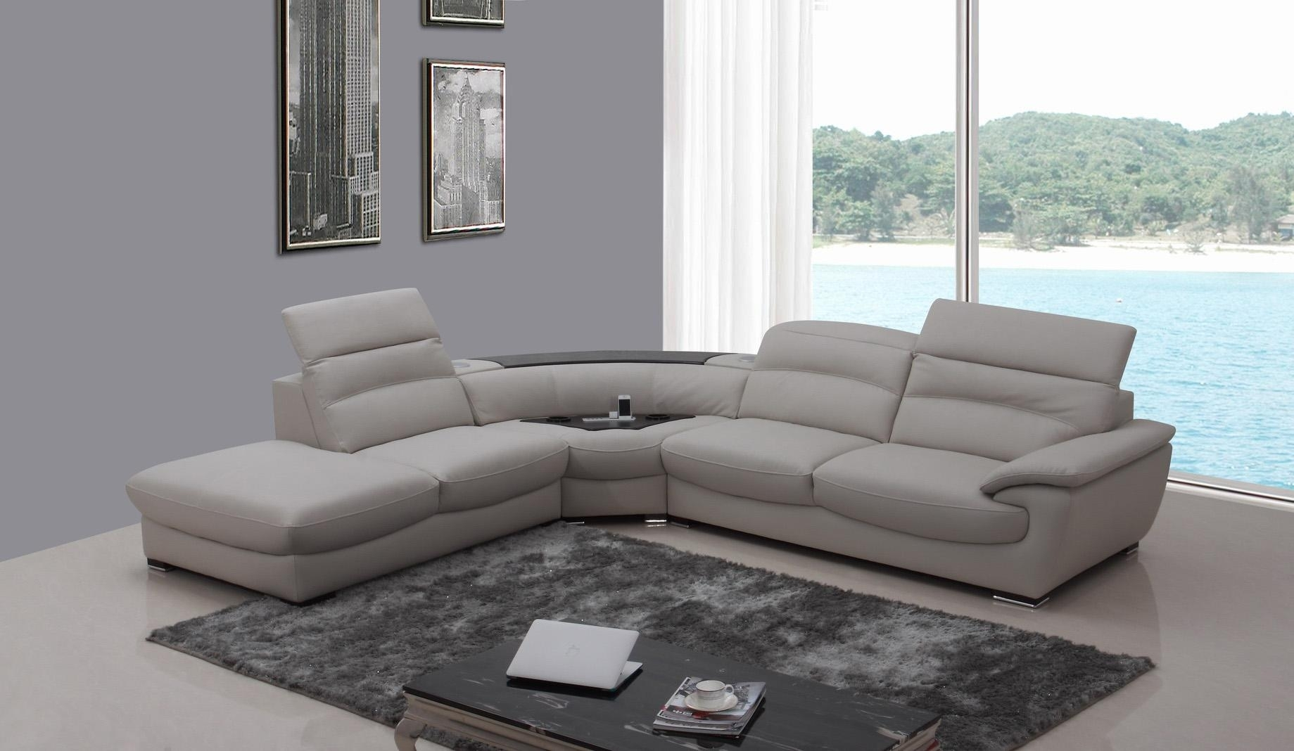 Apartment Size Brown Leather Sofa Black Furniture Sectional With Regarding Vancouver Sectional Sofas (View 7 of 10)