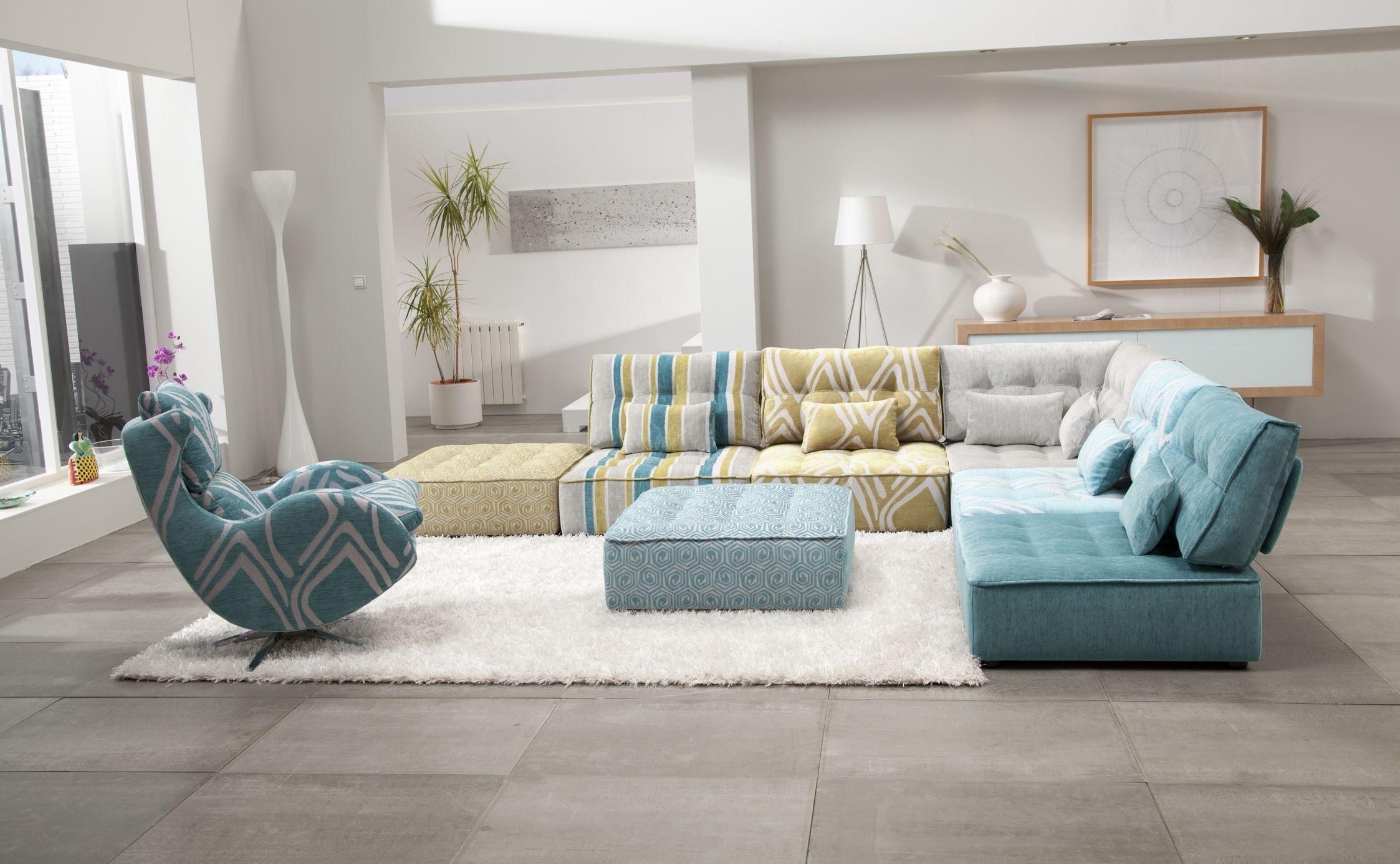 Arianne Modern Modular Sectional Sofa | Fama Sofas for Modular Sectional Sofas (Image 2 of 10)