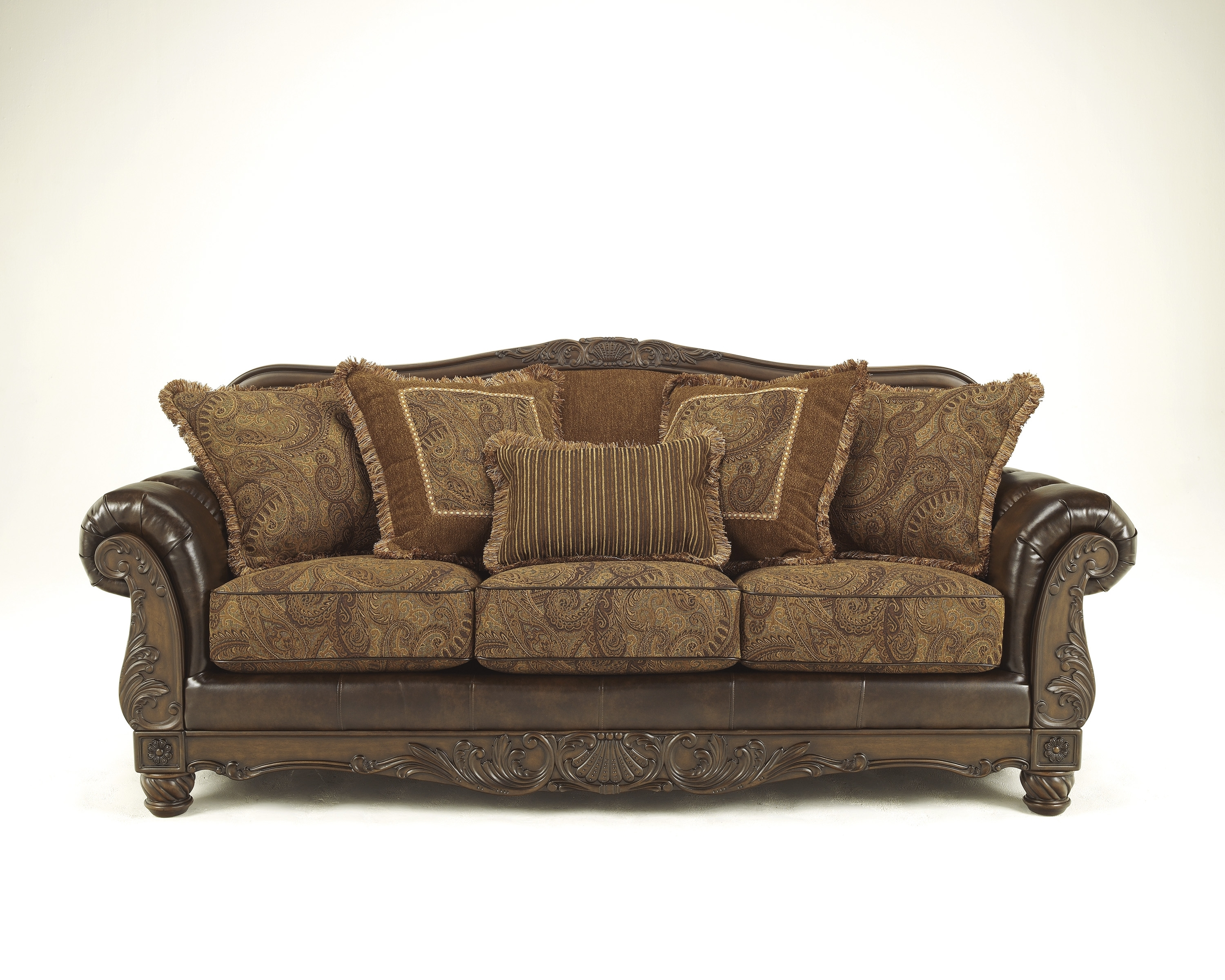 Ashley Fresco Antique Sofa And Love! - Dream Rooms Furniture in Antique Sofas (Image 3 of 10)