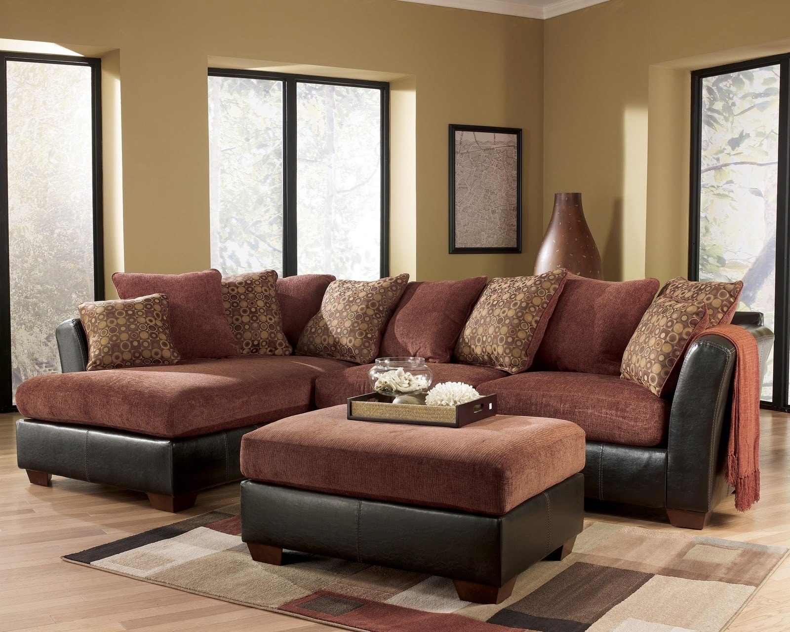 Ashley Furniture – Larson 31400 Cinnamon Sofa Sectional – Royal intended for Royal Furniture Sectional Sofas (Image 2 of 10)