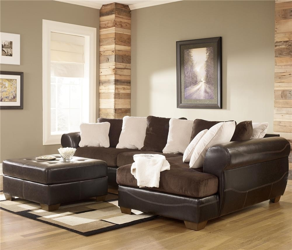 Ashley Furniture Victory Chocolate Sectional Sofa Miskelly Sectional Intended For Sectional Sofas At Ashley Furniture (View 5 of 15)