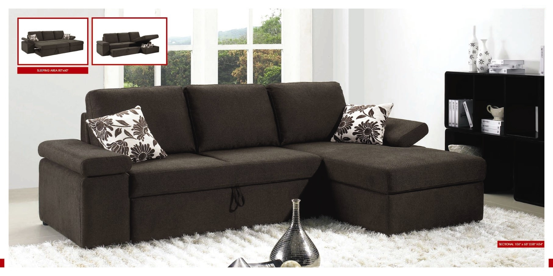 Awesome Fancy Small Sectional Sleeper Sofa 20 With Additional Home pertaining to Pull Out Beds Sectional Sofas (Image 1 of 10)