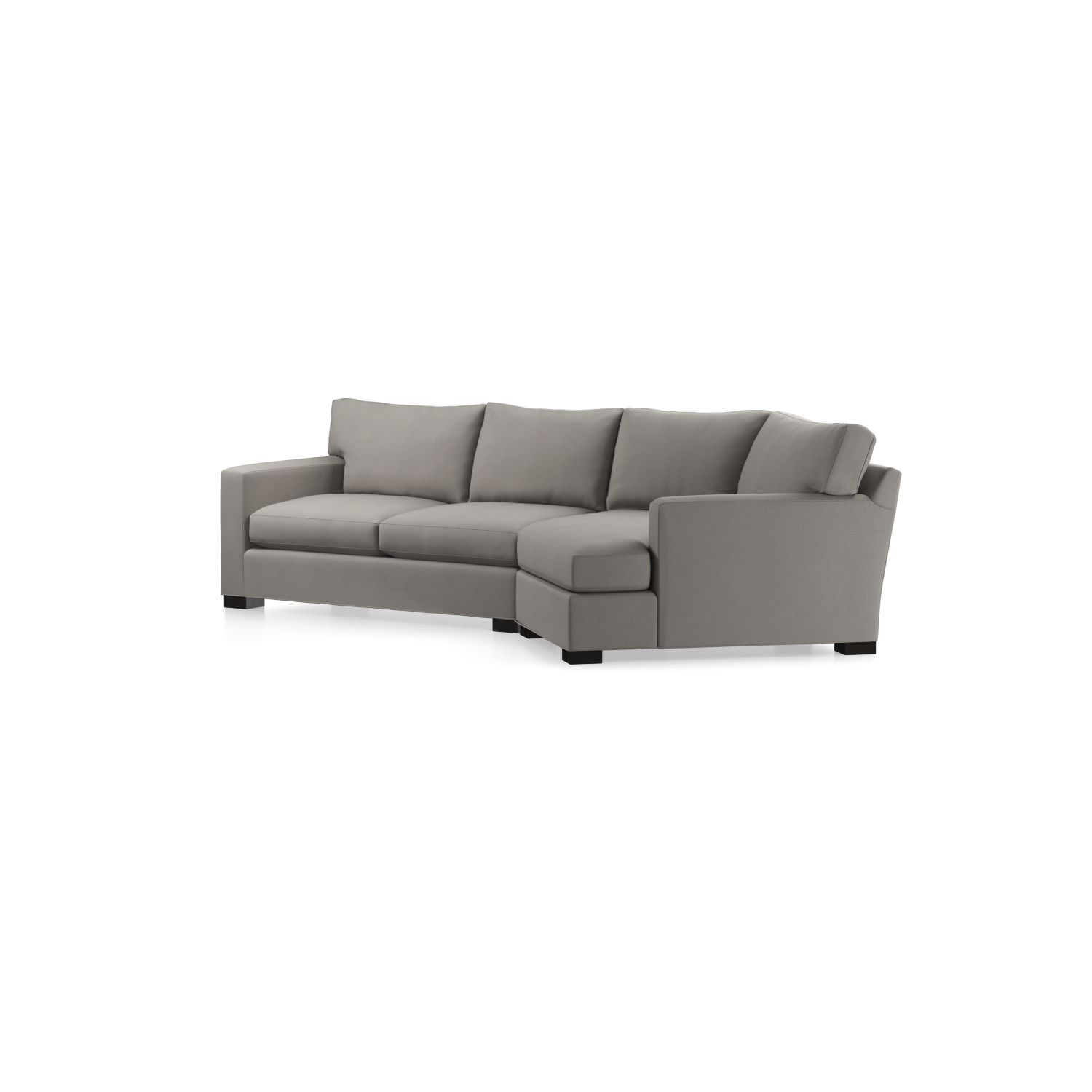 Axis Ii 2-Piece Right Arm Angled Chaise Sectional Sofa In Axis inside Angled Chaise Sofas (Image 5 of 10)