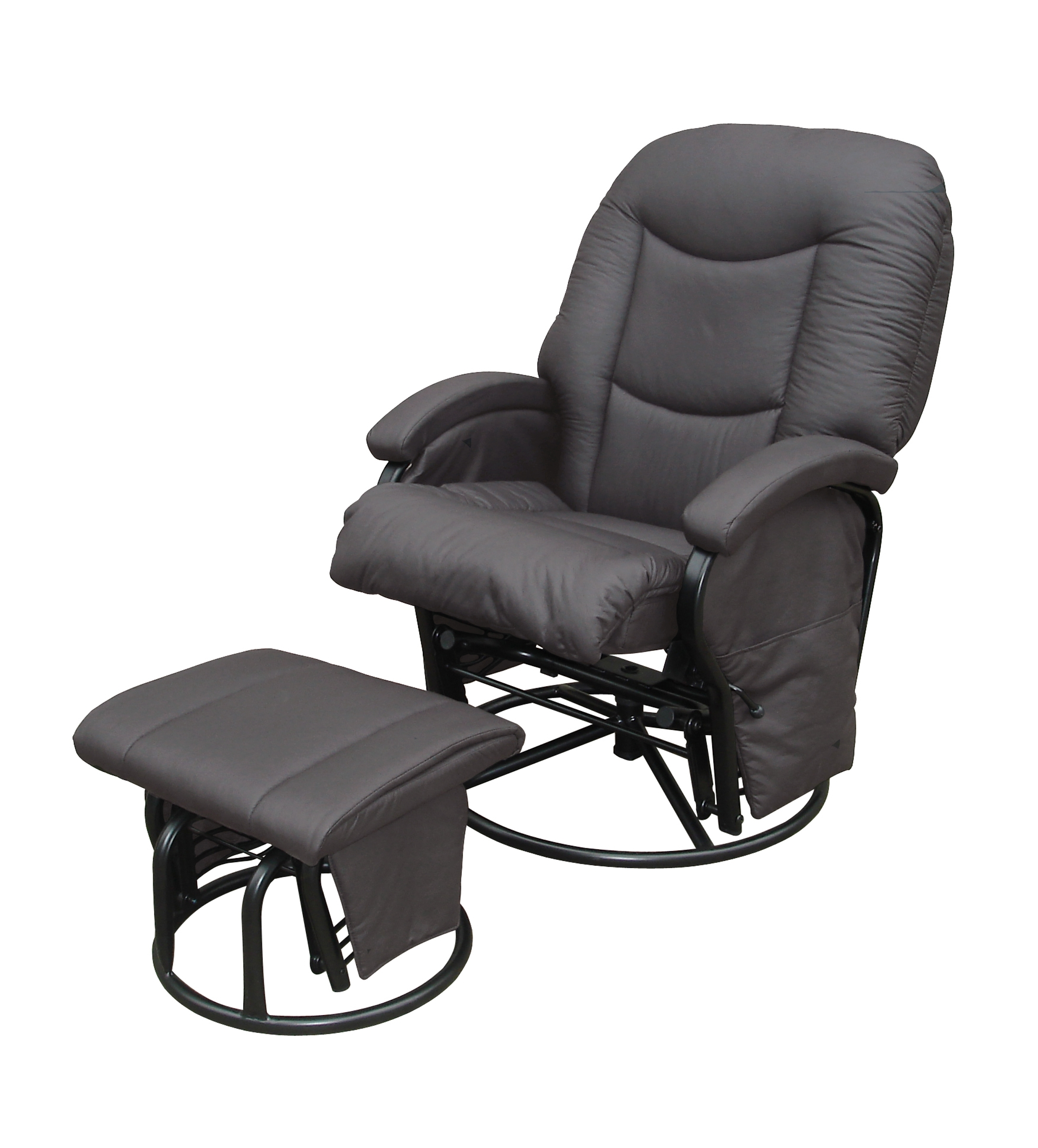 Babylo Cloud Nine Glider Nursing Chair + Ottoman Slate Grey - Tiny Toes for Chairs With Ottoman (Image 3 of 15)