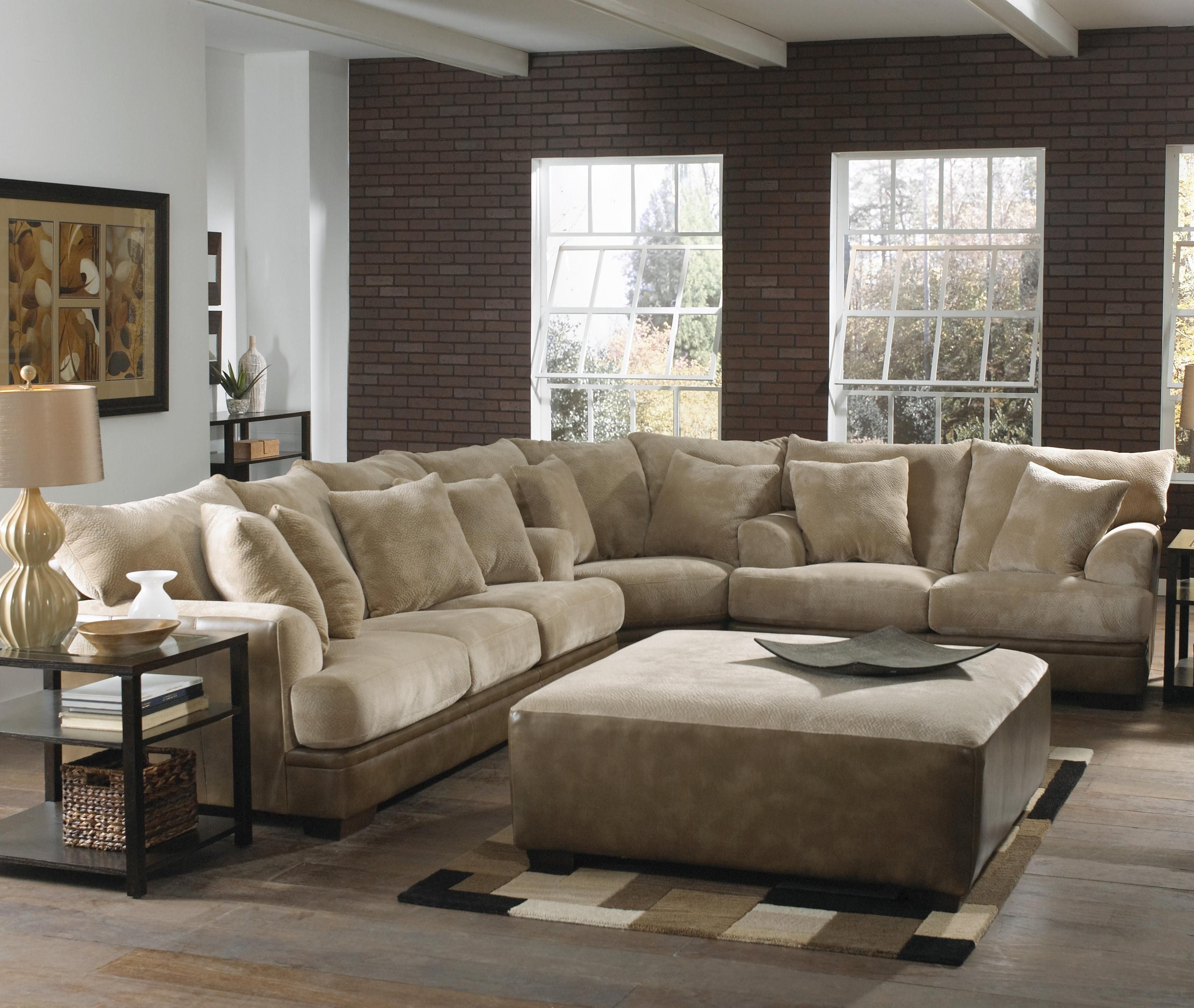 Barkley Large L-Shaped Sectional Sofa With Right Side Loveseat for Jackson Ms Sectional Sofas (Image 2 of 10)