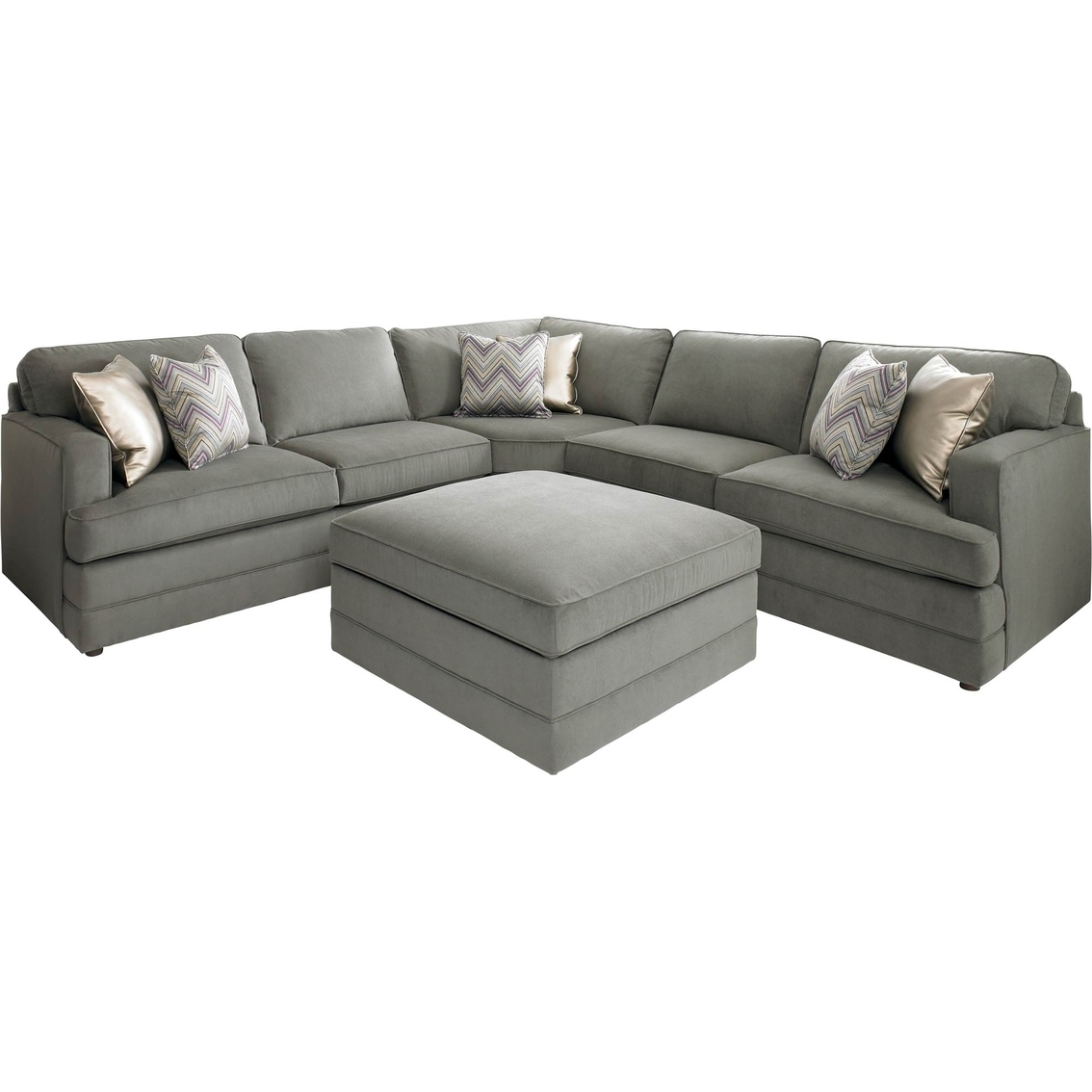 Bassett Dalton L Shaped Sectional Sofa With Ottoman | Making Our Within High Point Nc Sectional Sofas (View 5 of 10)