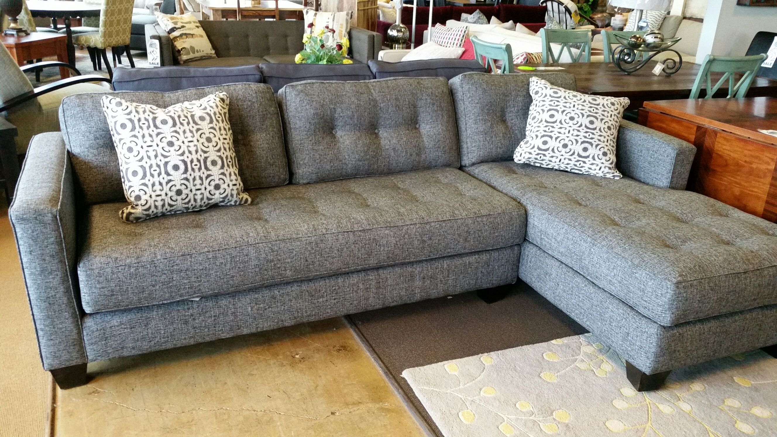 Beautiful Aspen Sofa Chase For Only $1699 | Grey Woven Fabric regarding Sectional Sofas At Barrie (Image 3 of 15)