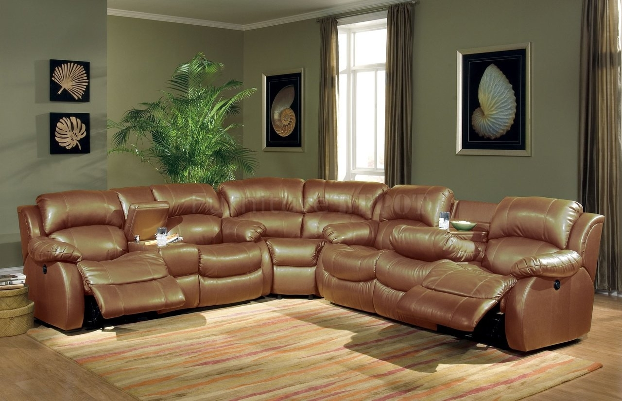 Beautiful Modern Leather Sectional Sofa With Recliners Pictures Intended For Sectional Sofas With Recliners Leather (View 2 of 10)