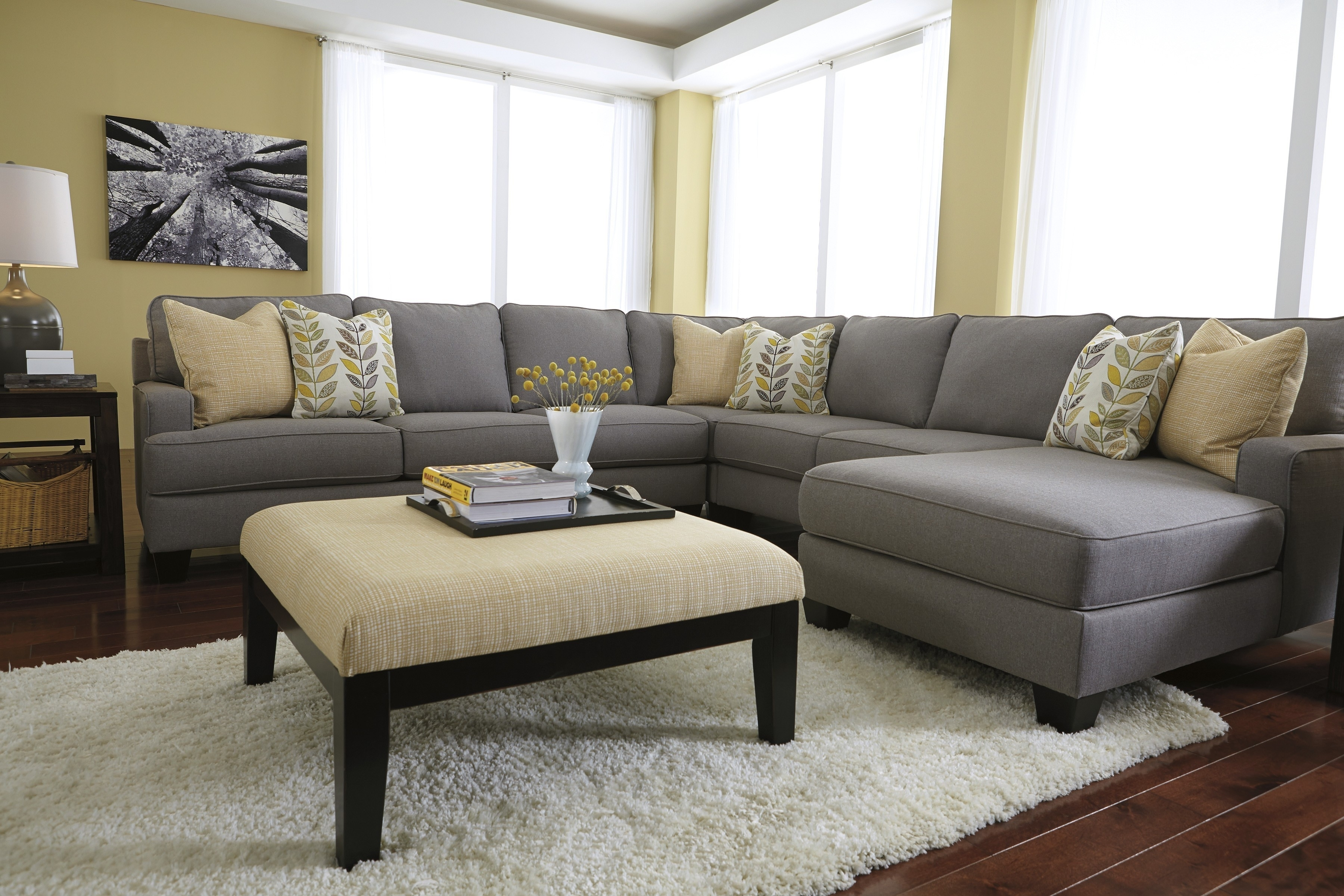 Beautiful Sectional Sofa With Oversized Ottoman 88 For Your pertaining to Sectional Sofas With Oversized Ottoman (Image 2 of 15)