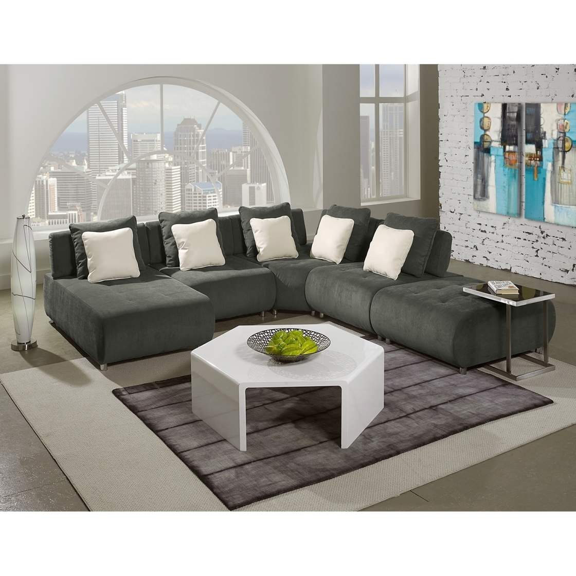 Beautiful Sleek Sectional Sofas 66 In Sectional Sofa For Small Space throughout Sleek Sectional Sofas (Image 3 of 10)