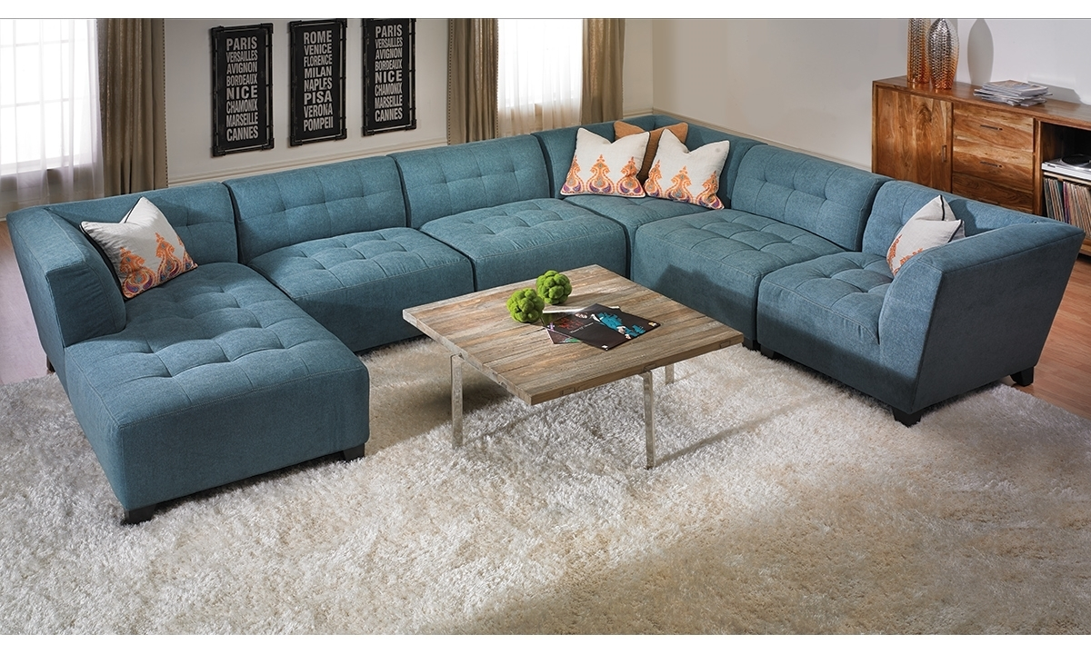 Belaire Tufted Contemporary Modular Sectional | Haynes Furniture With Haynes Sectional Sofas (View 9 of 10)