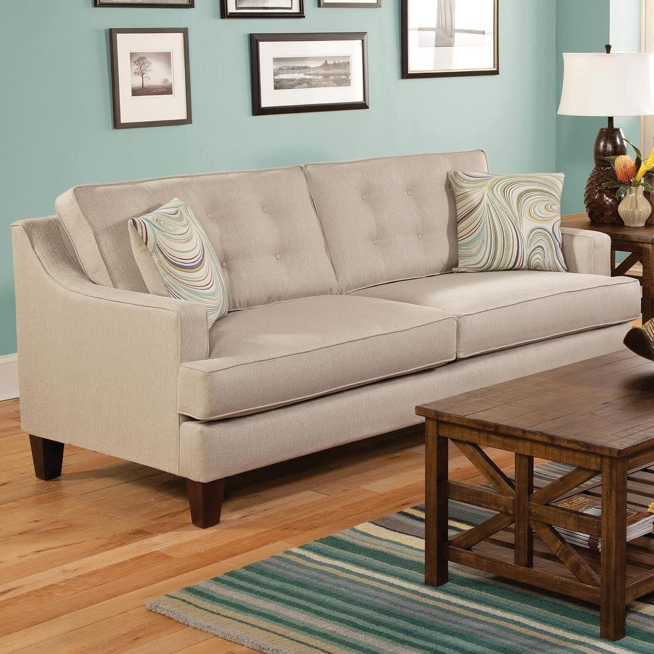 Belfort Essentials Anders Contemporary Sofa | Belfort Furniture | Sofa in Maryland Sofas (Image 2 of 10)