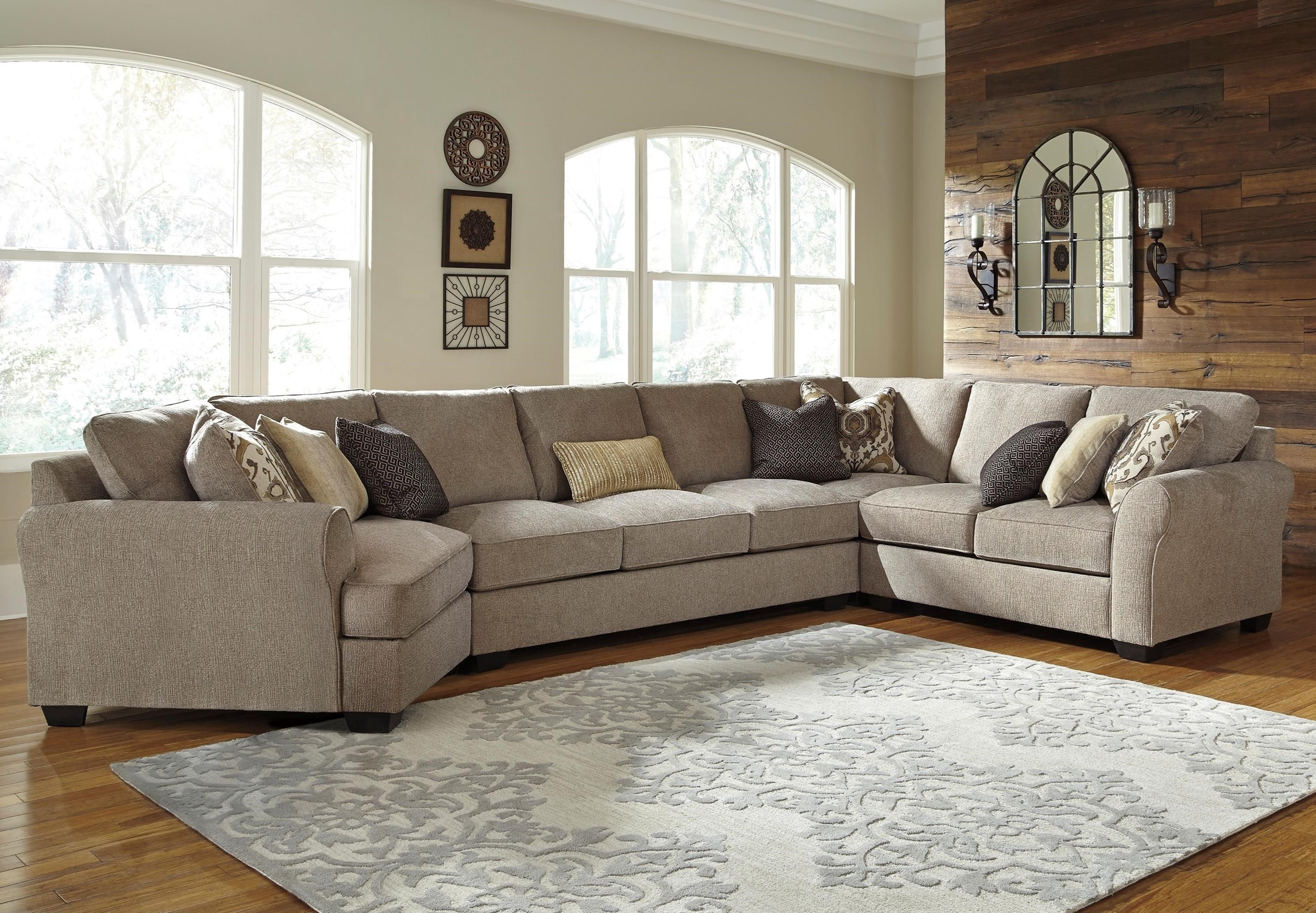 Benchcraft Pantomine 4-Piece Sectional With Left Cuddler & Armless regarding Sectional Sofas With Cuddler (Image 1 of 10)