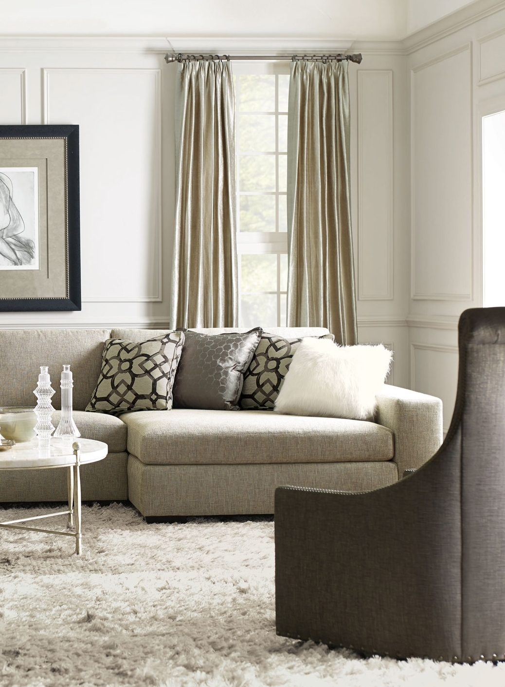 Bernhardt | Orlando Sectional Sofa, Maurice Swivel Chair, Clarion within Orlando Sectional Sofas (Image 2 of 10)