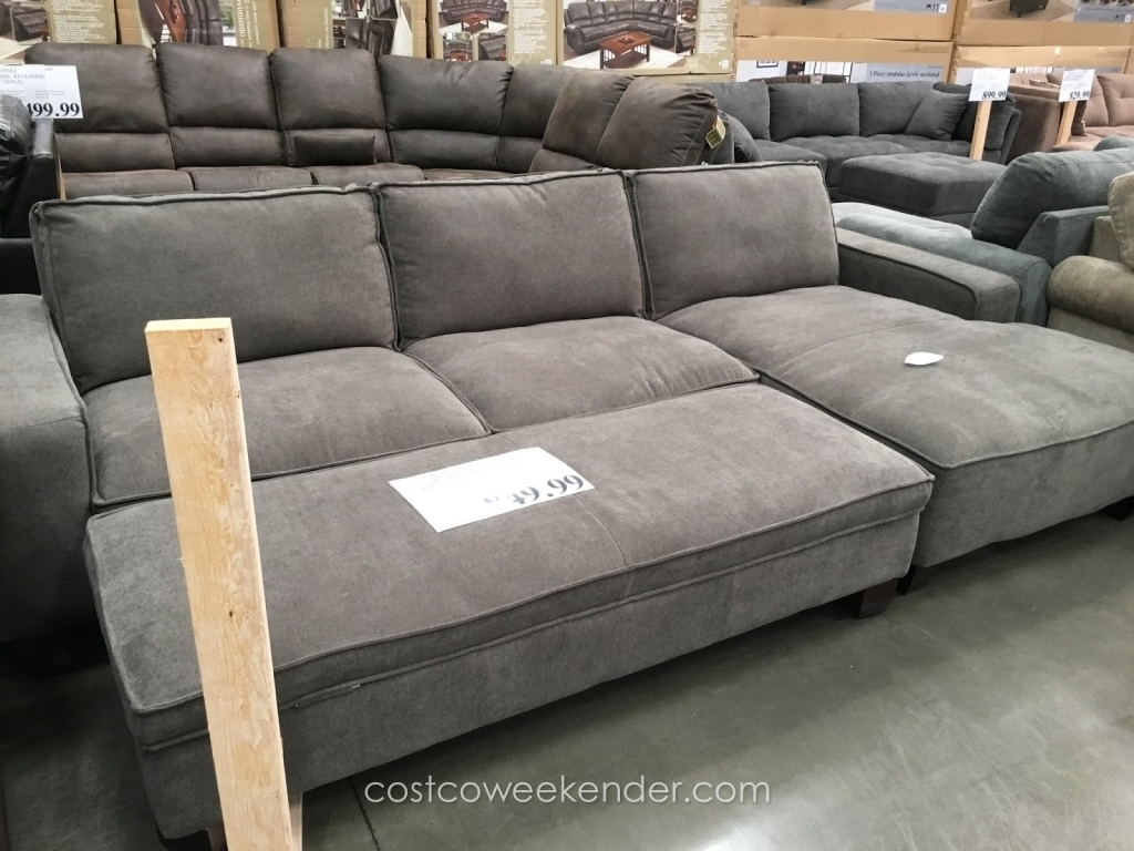 Best Costco Sectional Sofas 68 In Sectional Sofa With Large Ottoman for Sectional Couches With Large Ottoman (Image 4 of 15)