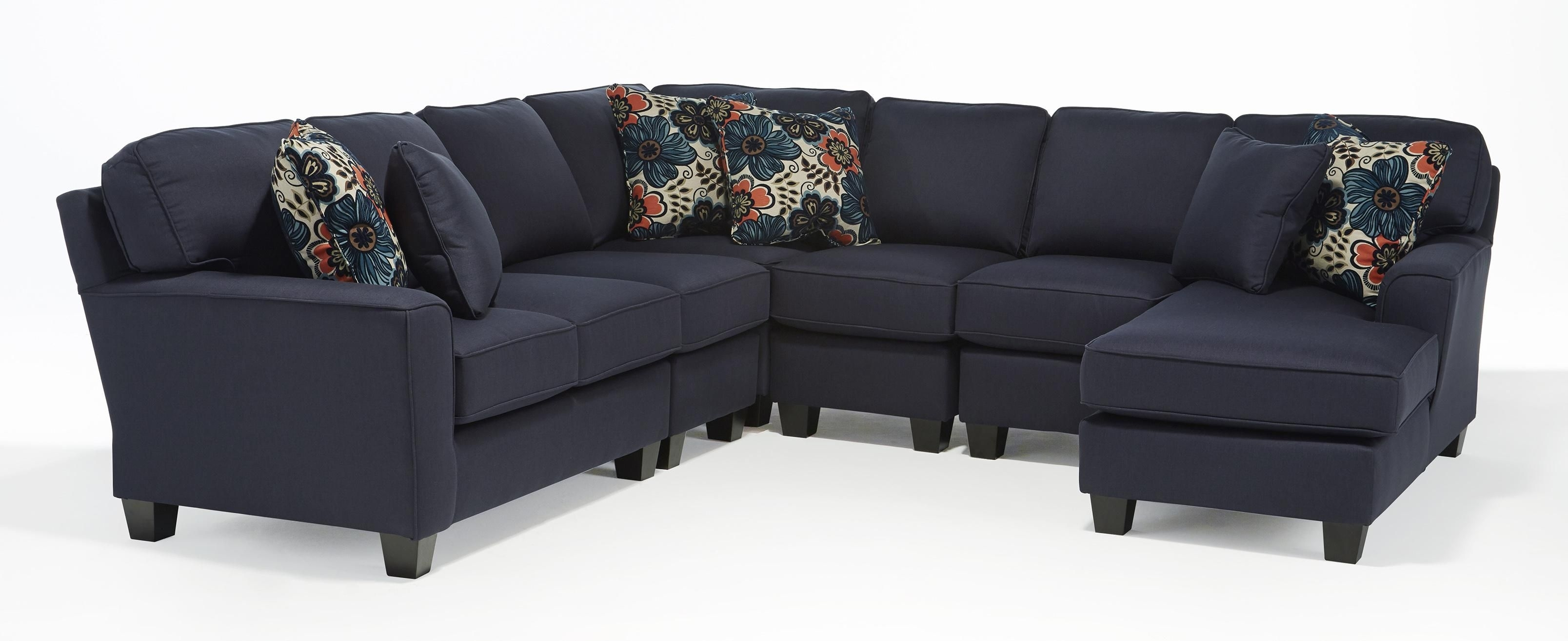 Best Home Furnishings Annabel Five Piece Customizable Sectional Sofa pertaining to Customizable Sectional Sofas (Image 1 of 15)